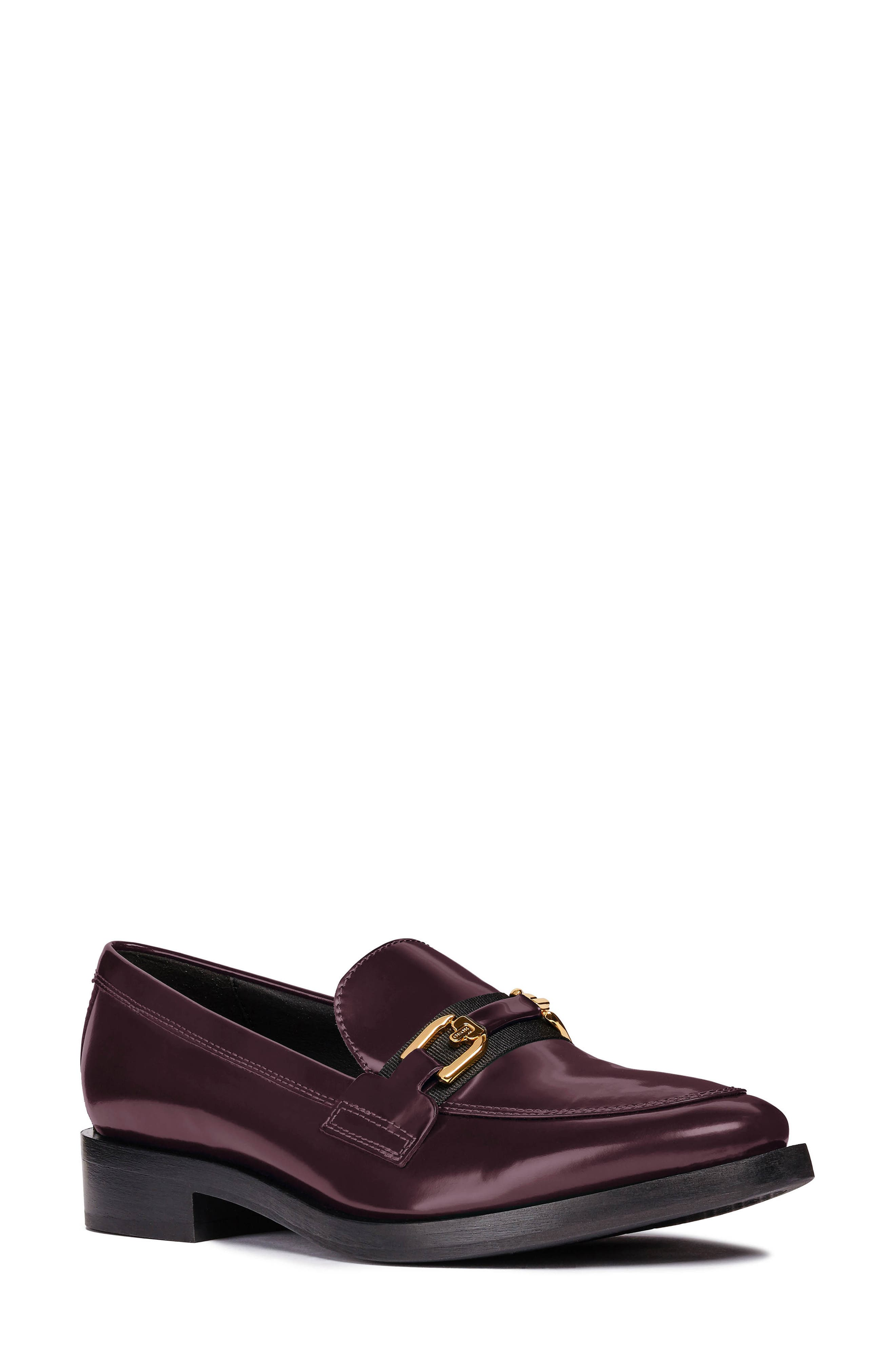 Brogue Loafer,                             Main thumbnail 1, color,                             BURGUNDY/ BLACK LEATHER