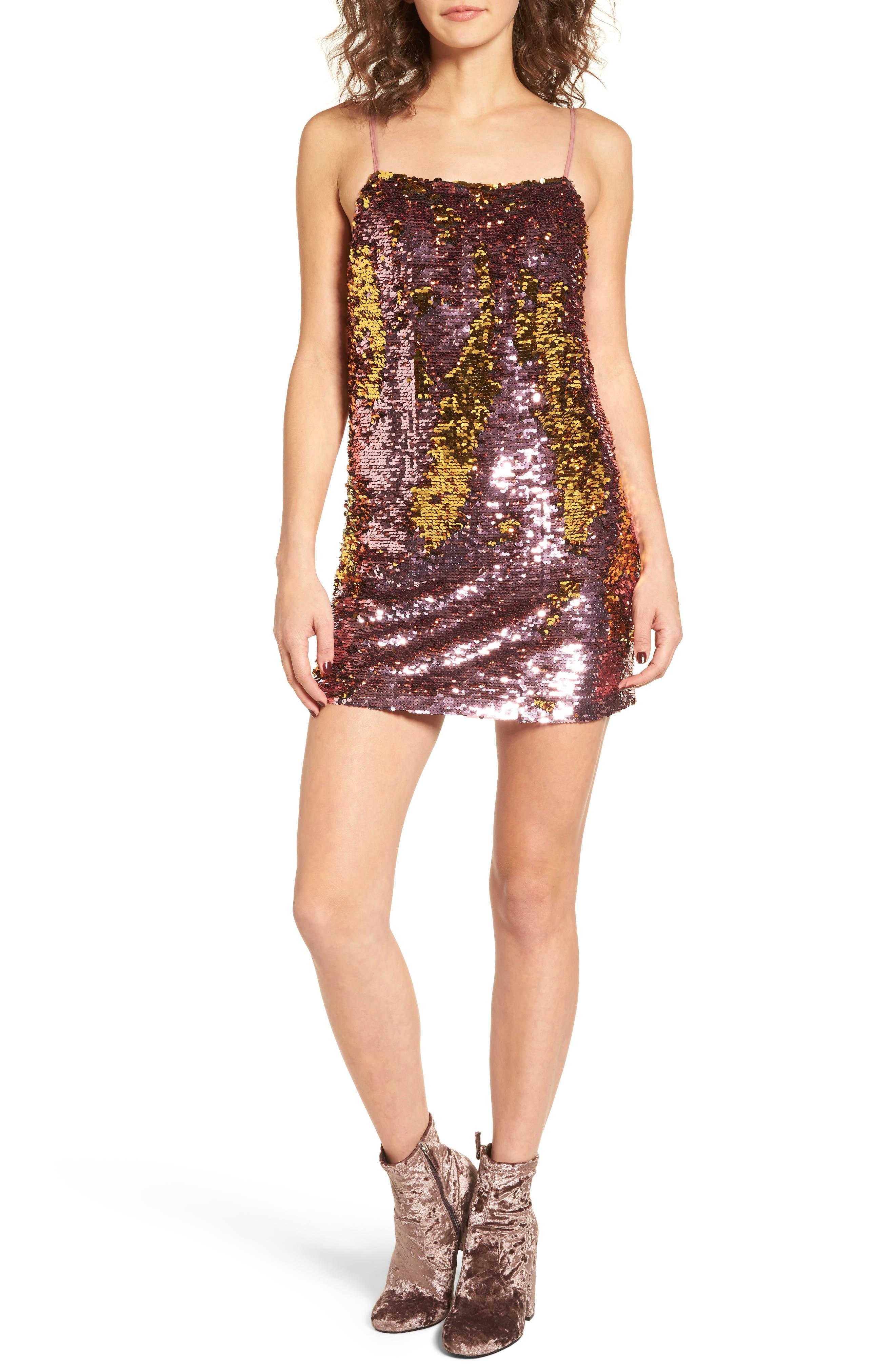 Sparklers Sequin Minidress,                             Main thumbnail 1, color,                             650