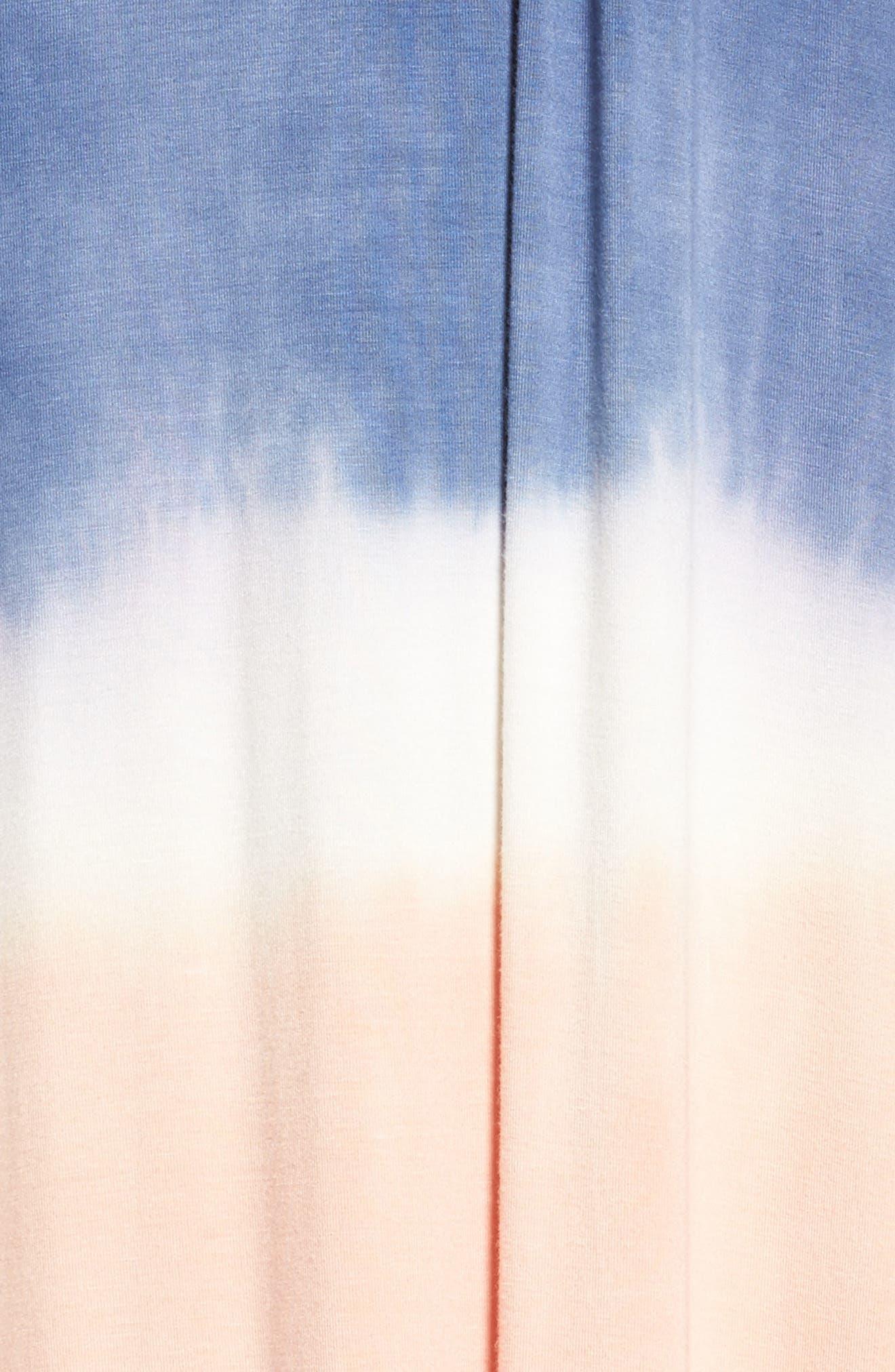 Tie Dye Sleeveless Maxi Dress,                             Alternate thumbnail 6, color,                             400