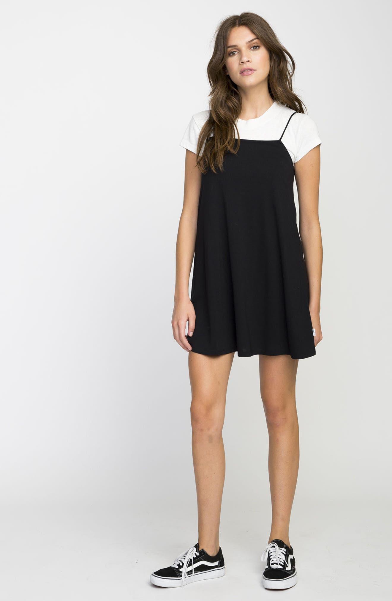 Rachel Camisole Dress,                             Alternate thumbnail 8, color,                             001