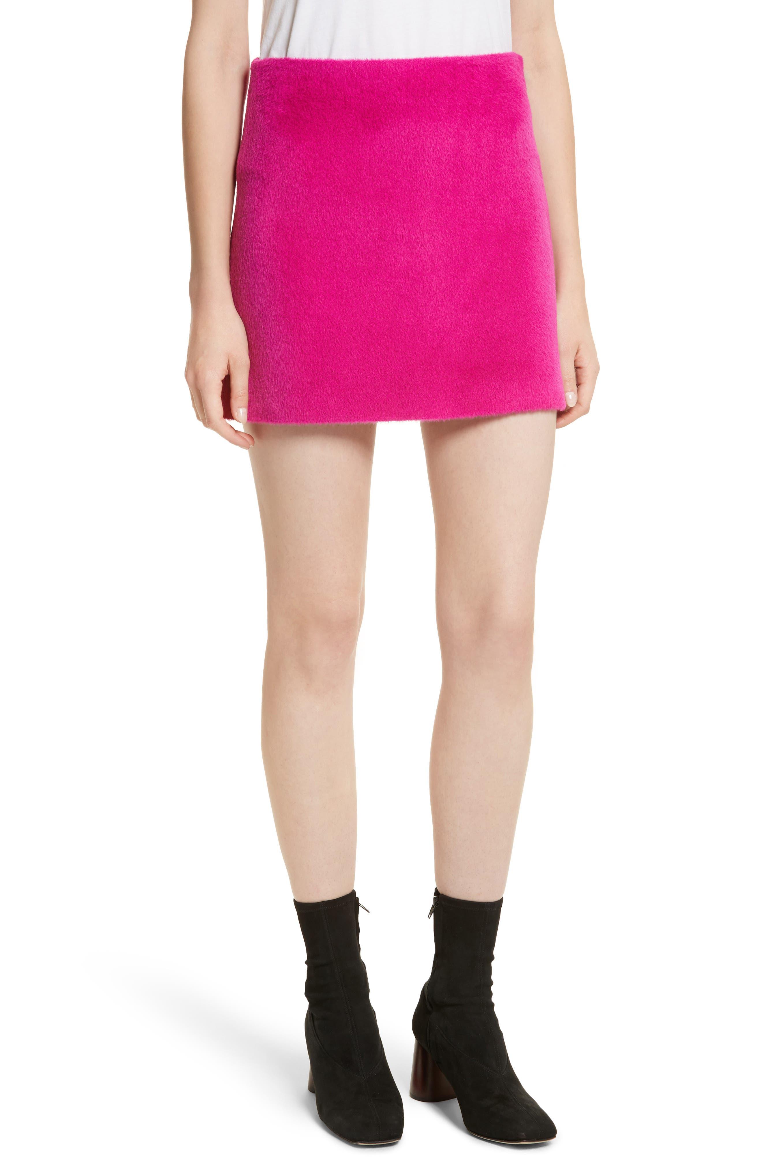 Re-Edition Brushed Alpaca & Wool Skirt,                             Main thumbnail 1, color,