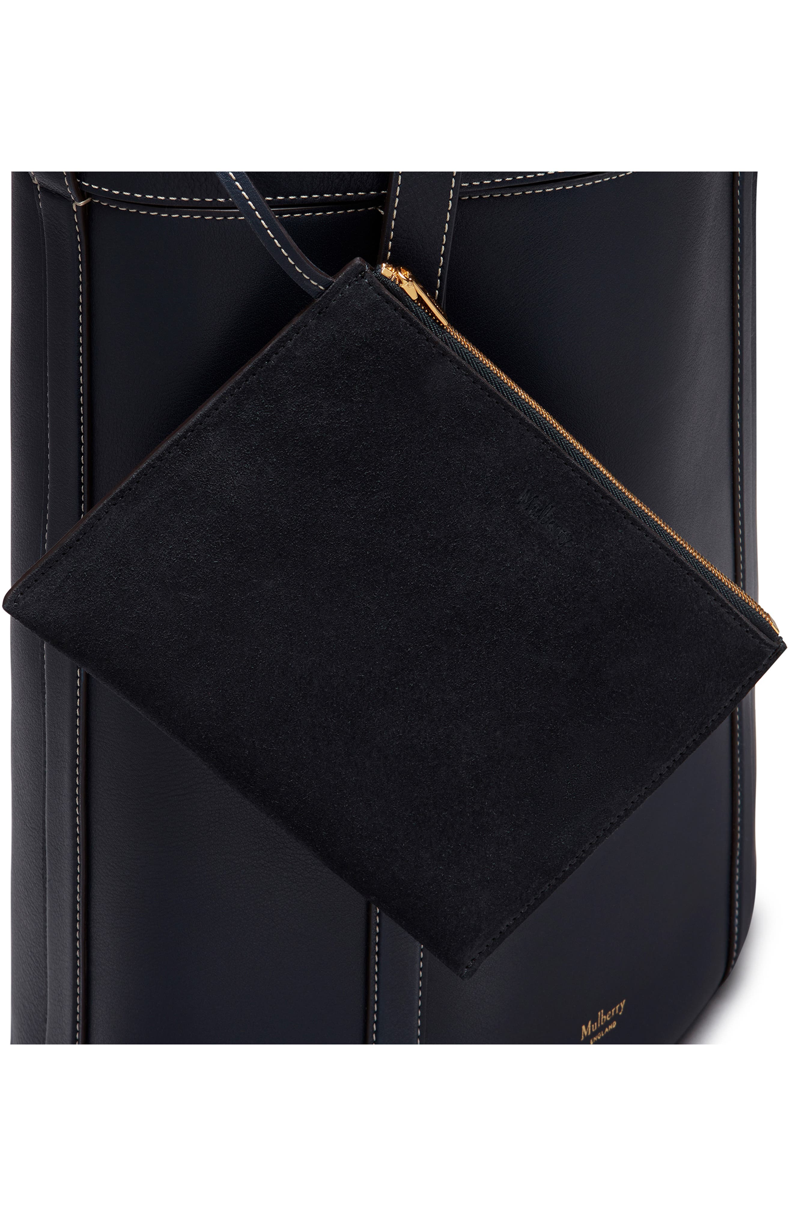 Small Wilton Leather Bucket Bag,                             Alternate thumbnail 5, color,                             MIDNIGHT