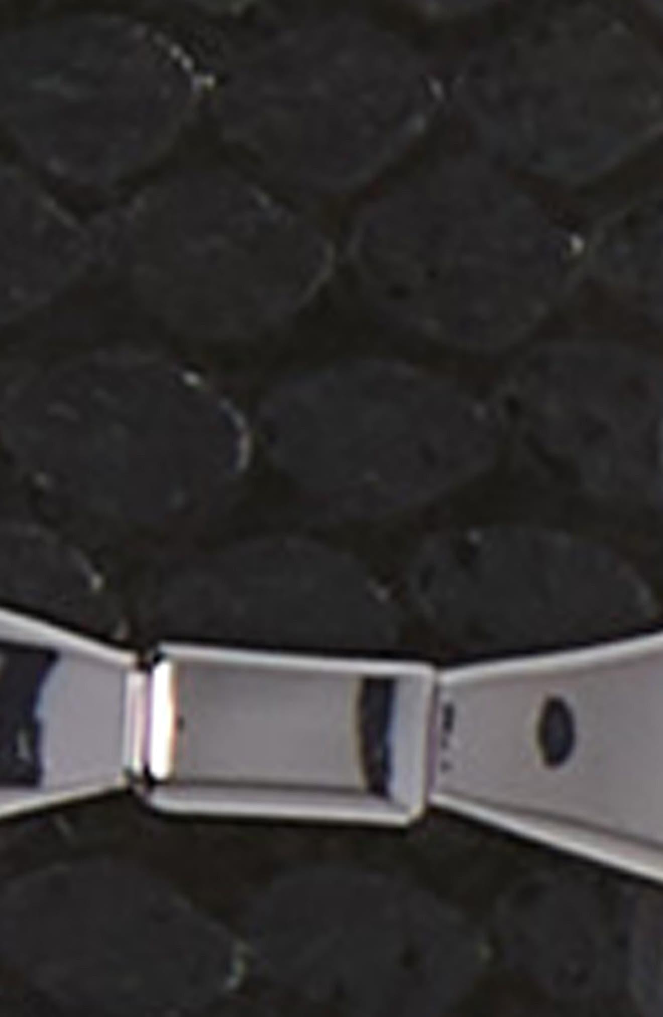 metallic snake pattern reversible belt,                             Alternate thumbnail 4, color,                             BLACK