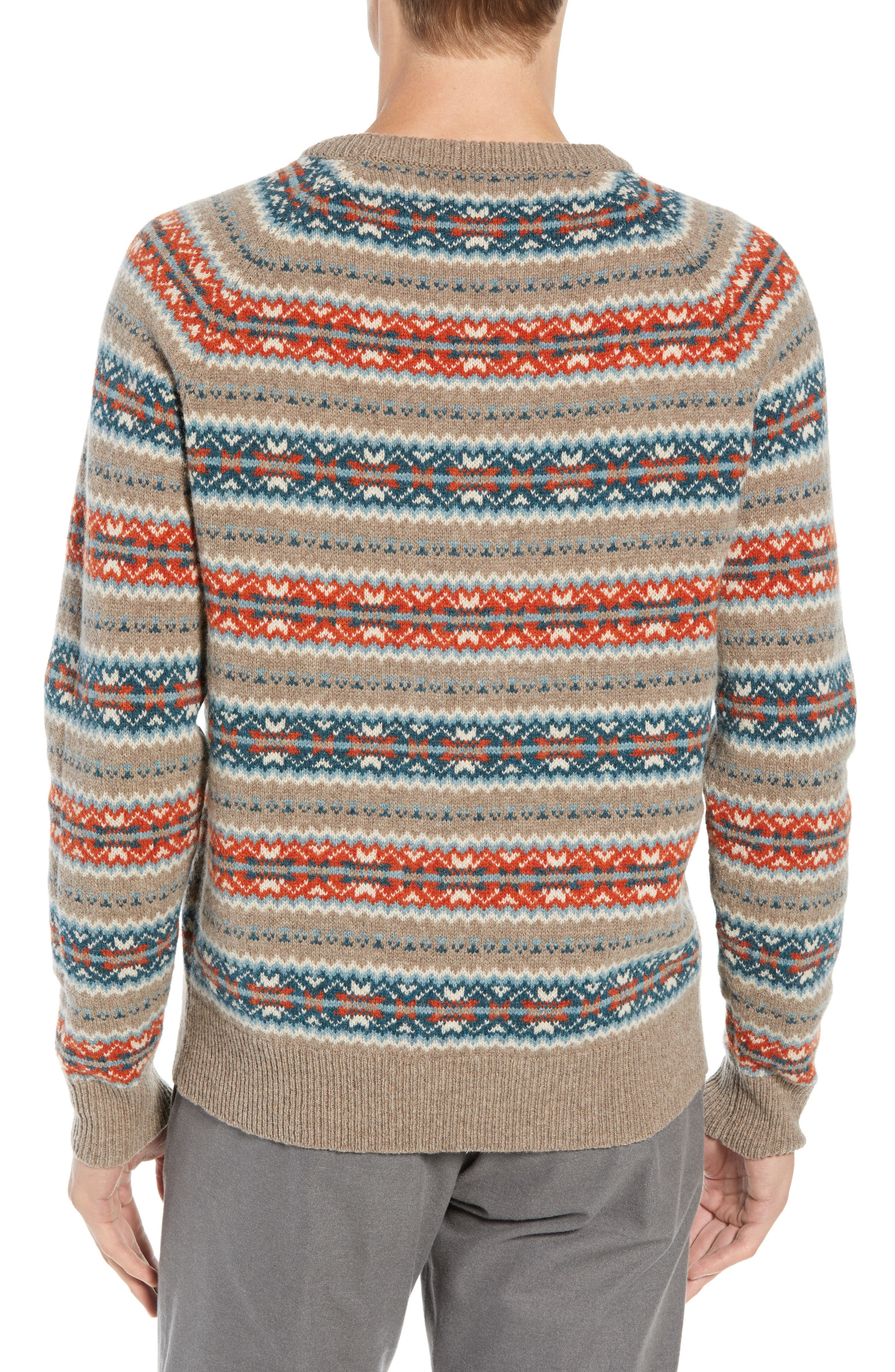Fair Isle Lambswool Sweater,                             Alternate thumbnail 2, color,                             ASH