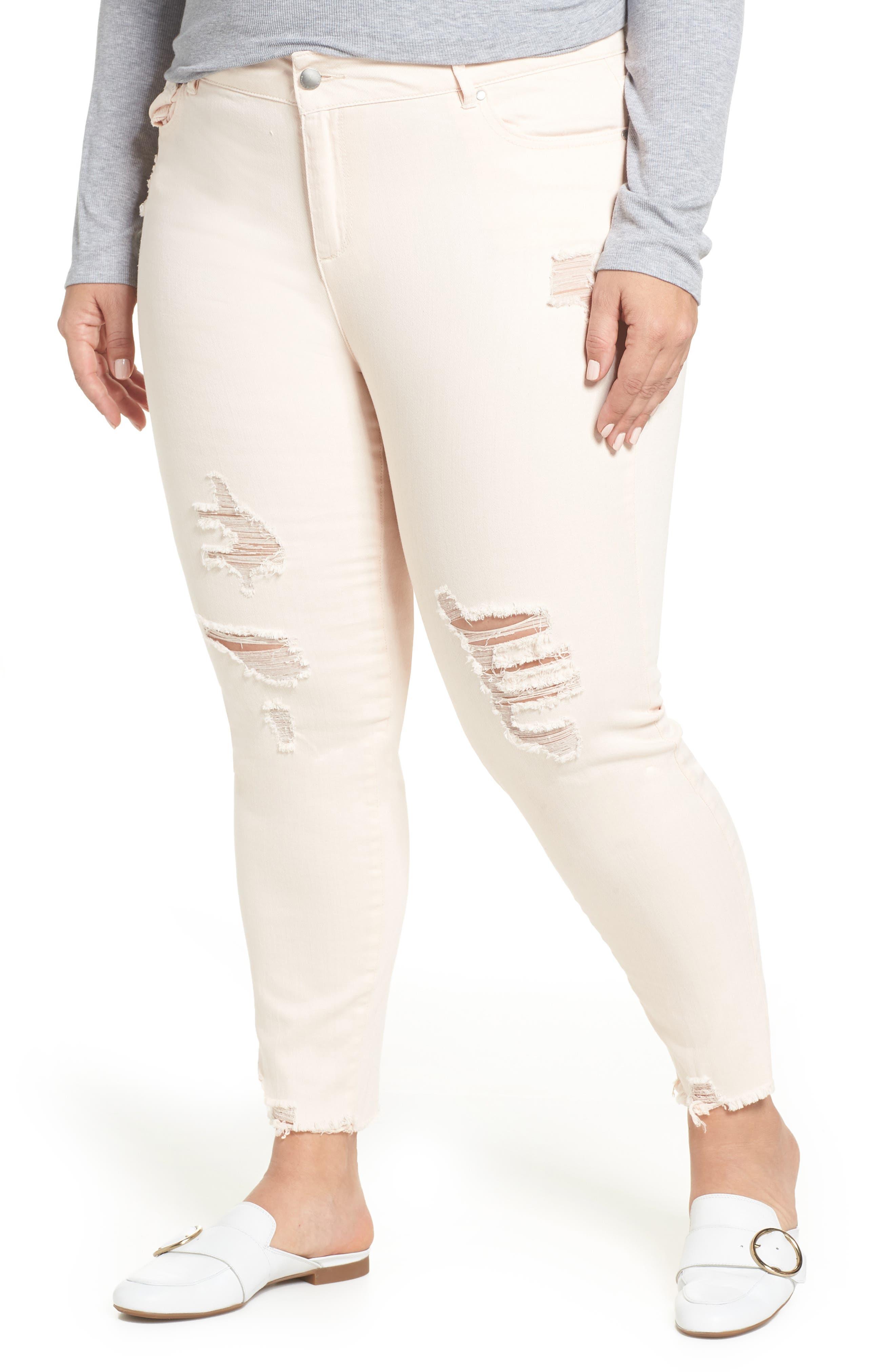 RACHEL RACHEL ROY,                             Icon Distressed Skinny Jeans,                             Main thumbnail 1, color,                             680