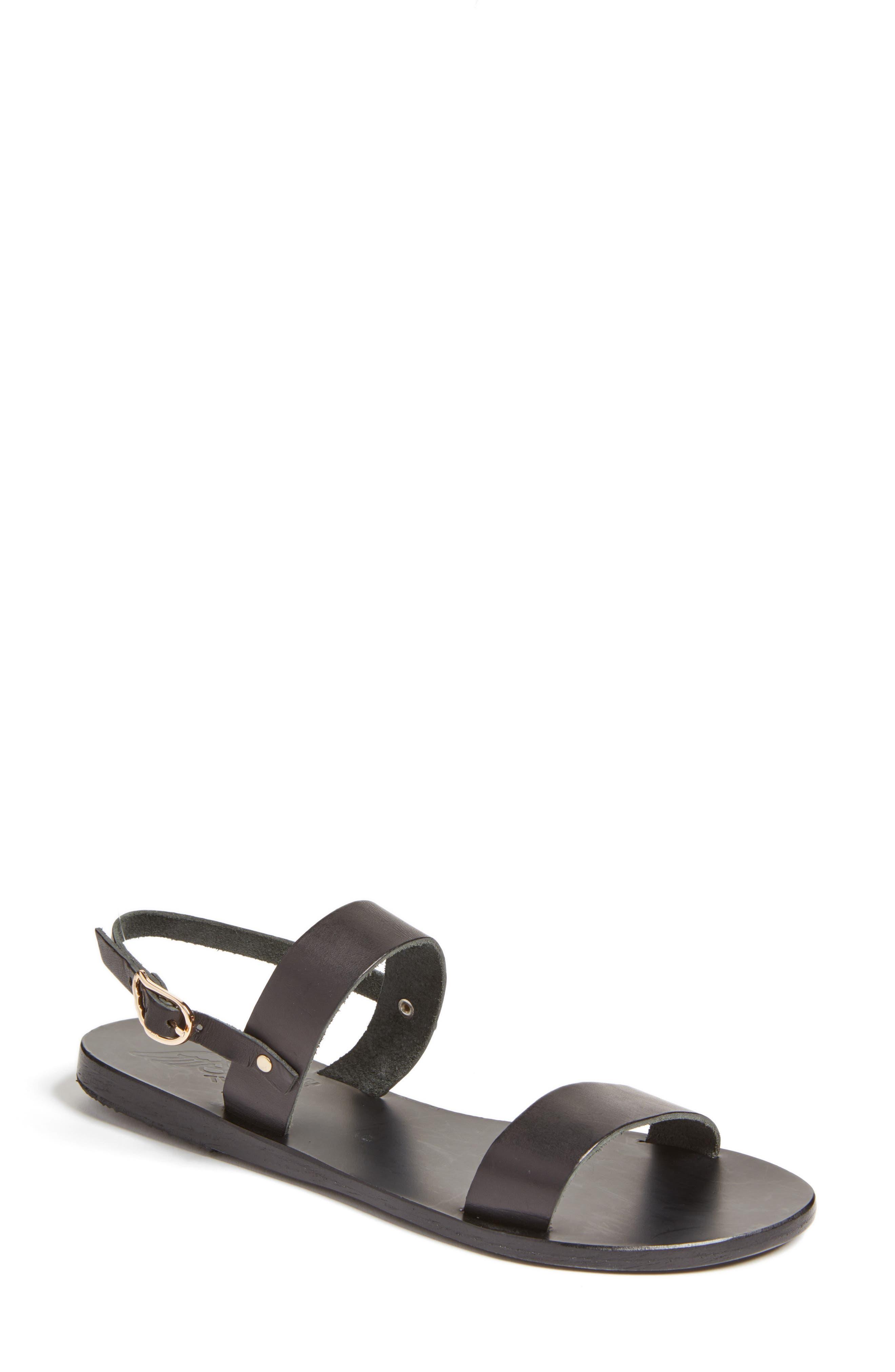 Clio Slingback Sandal,                             Main thumbnail 1, color,                             BLACK