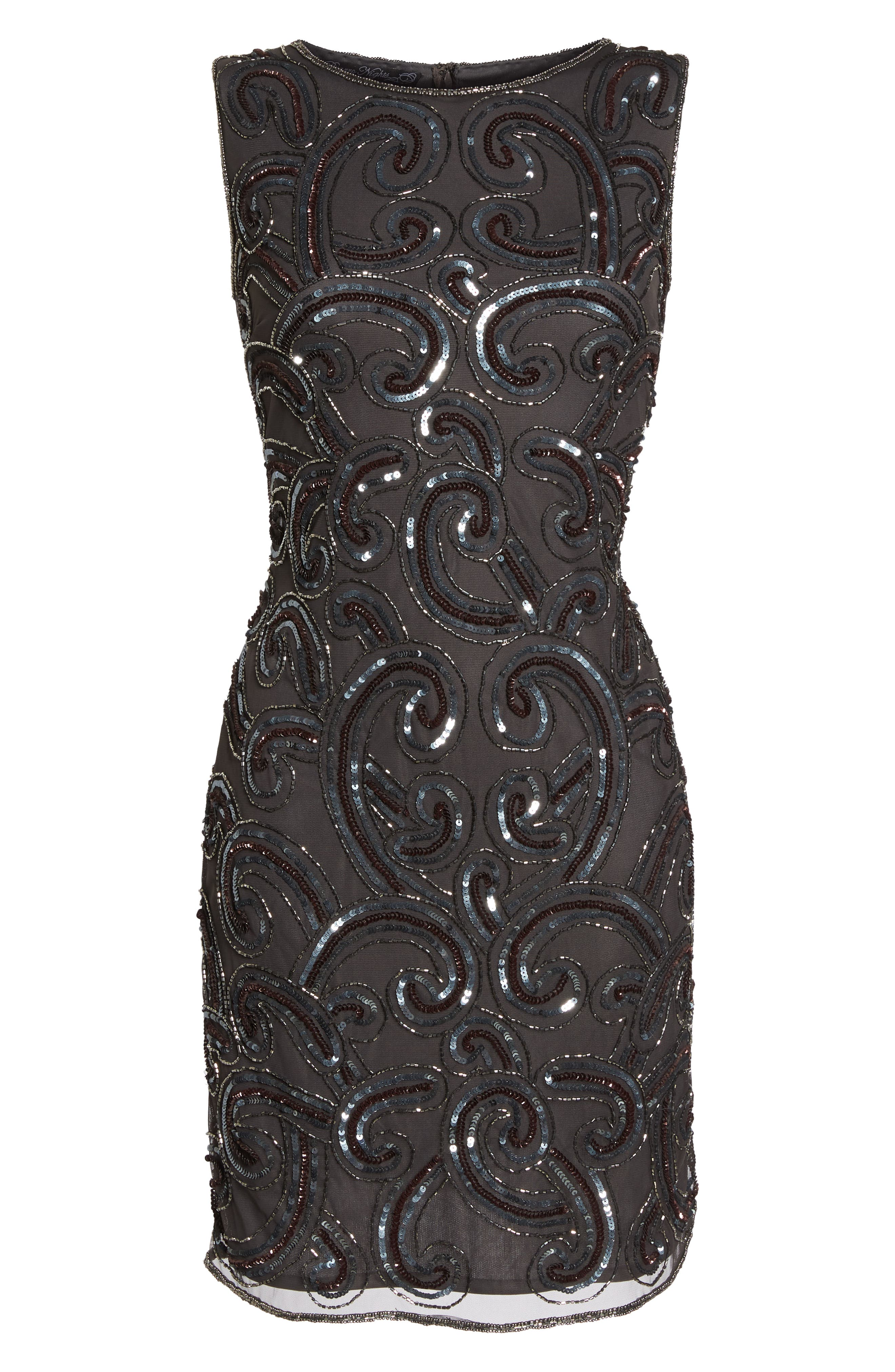 Embellished Sheath Dress,                             Alternate thumbnail 6, color,                             021