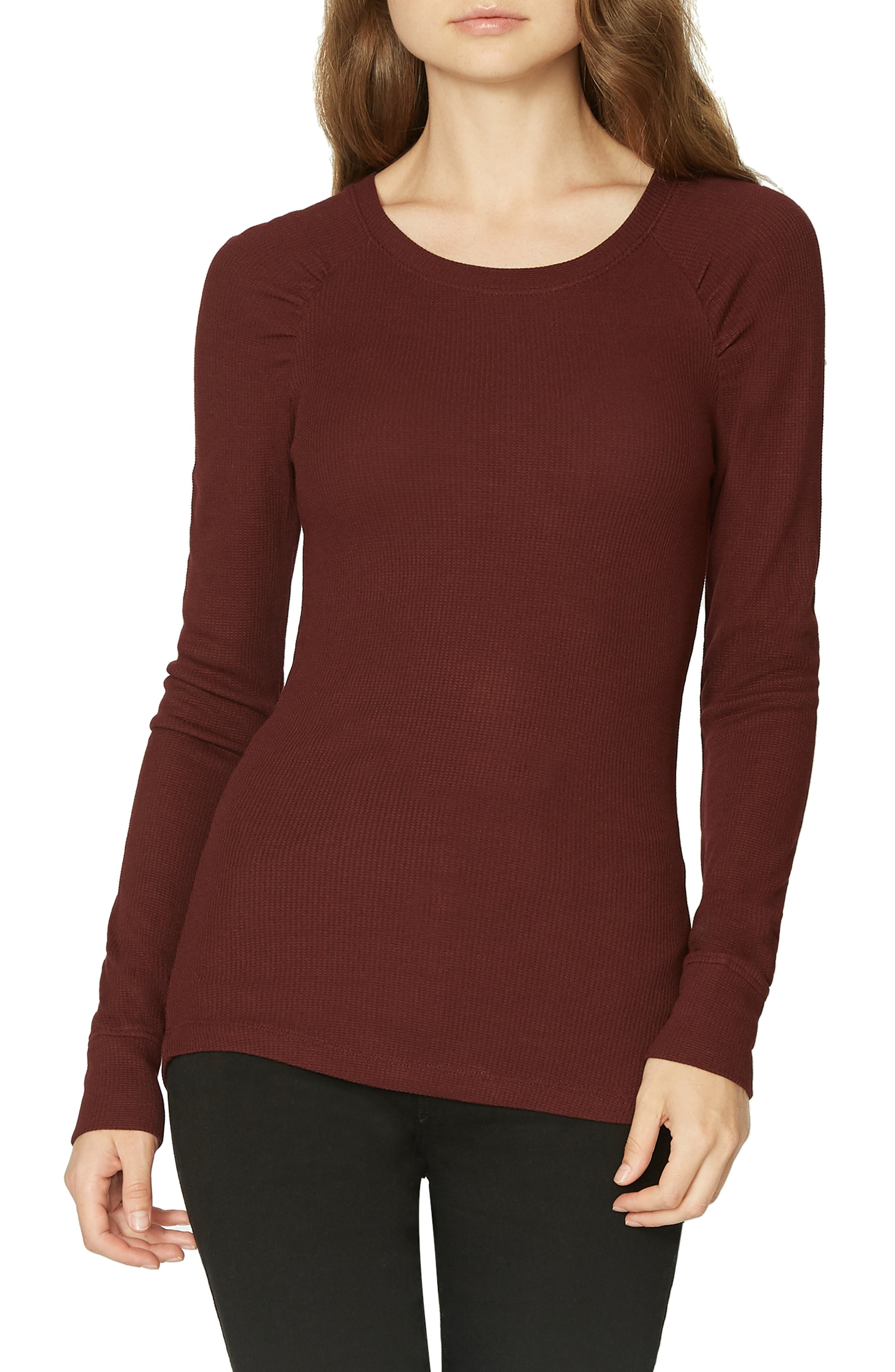 Kenzie Thermal Pullover,                         Main,                         color, SCARLET