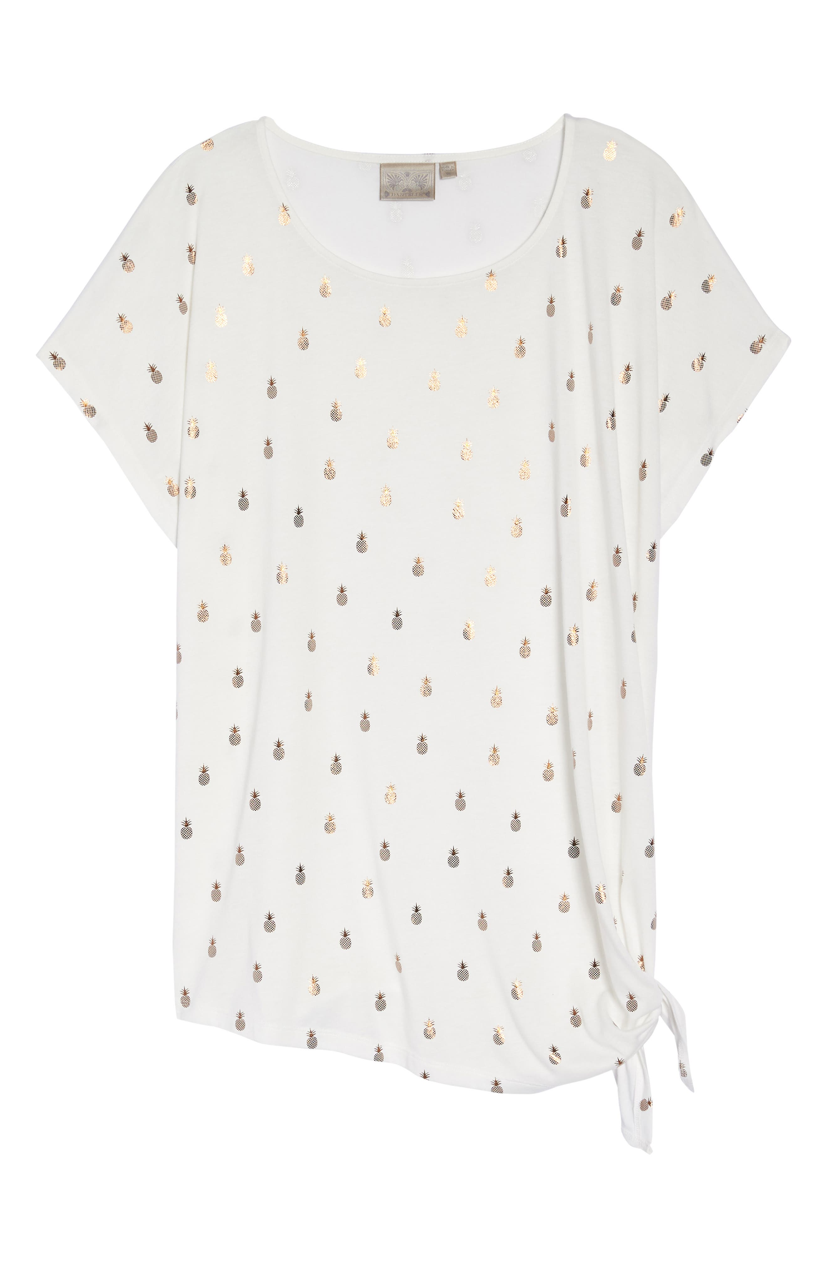 Gold Pineapple Side Tie Top,                             Alternate thumbnail 7, color,                             107