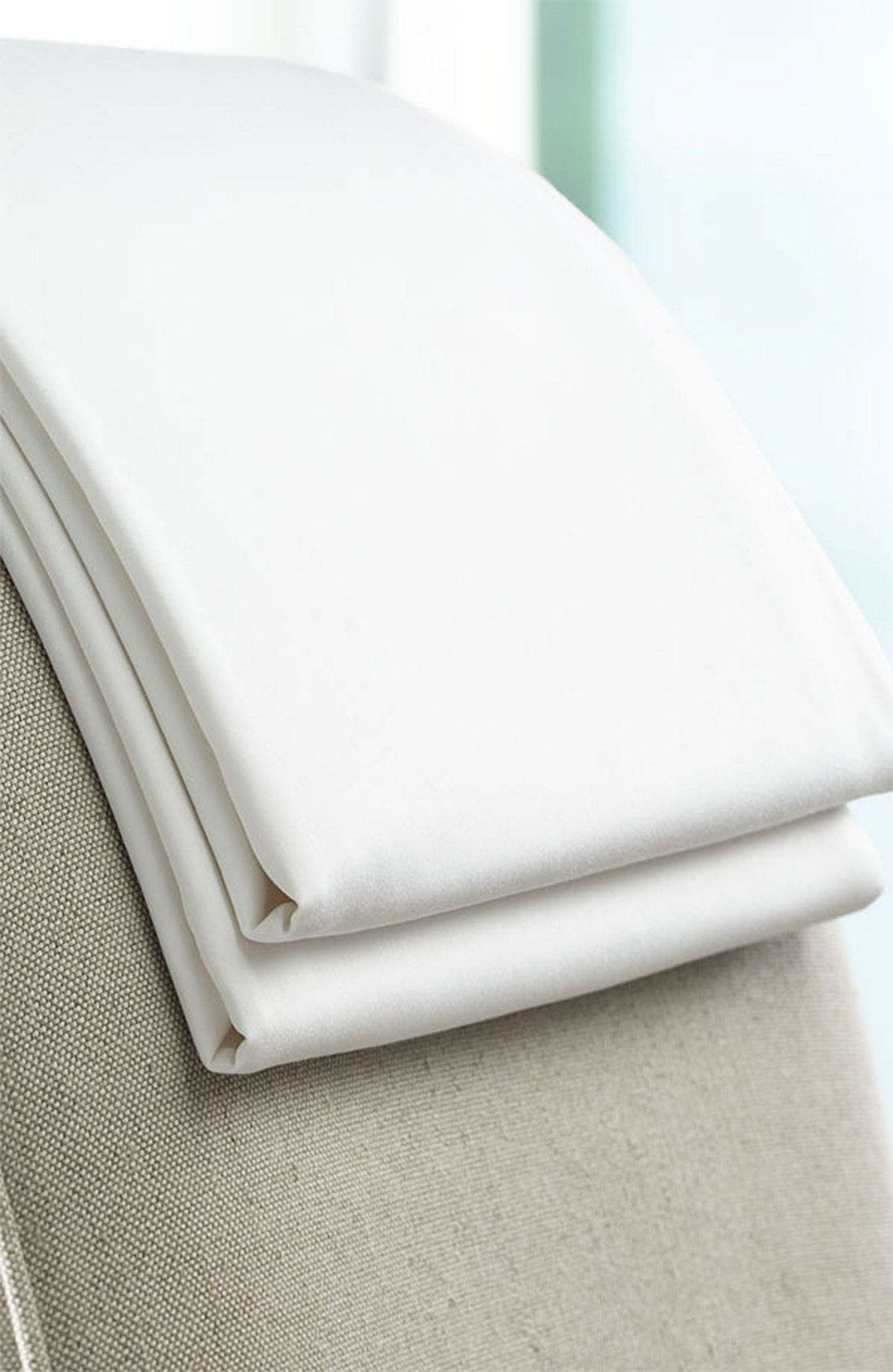 300 Thread Count Luxe Fitted Sheet,                             Alternate thumbnail 4, color,                             WHI