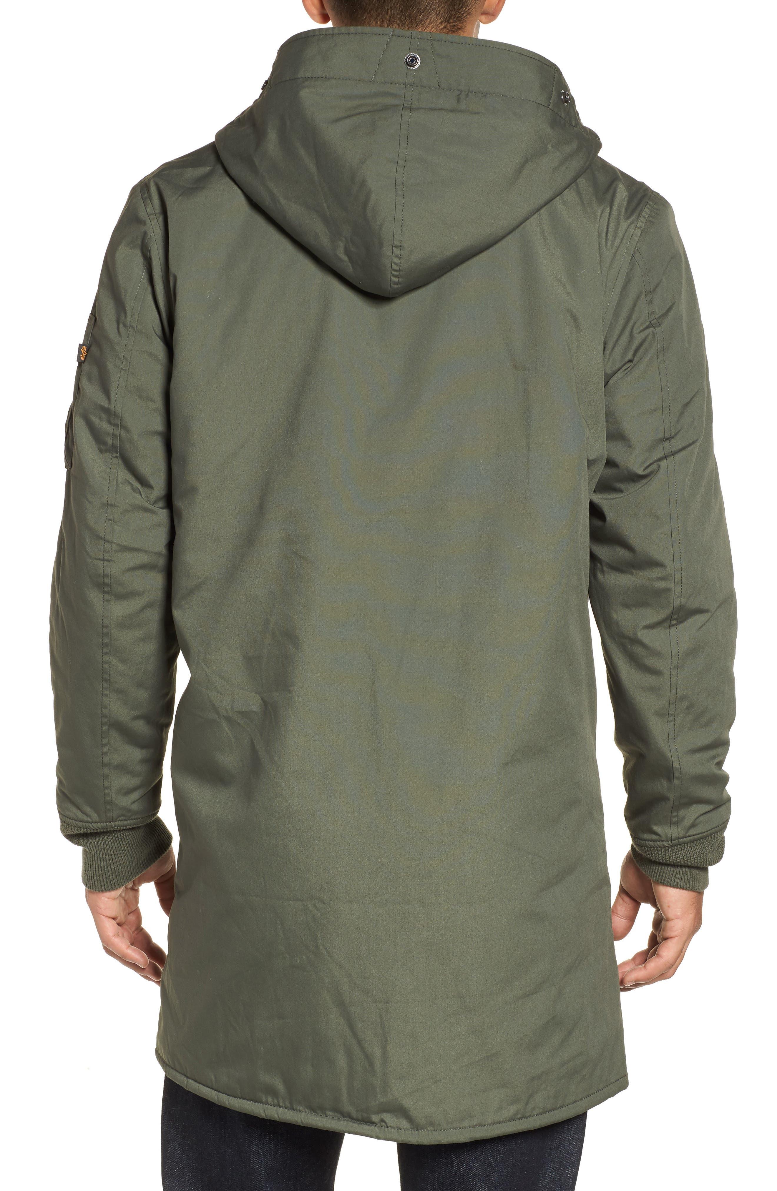 M-47 Faux Shearling Reversible Jacket,                             Alternate thumbnail 2, color,                             M-65 OLIVE