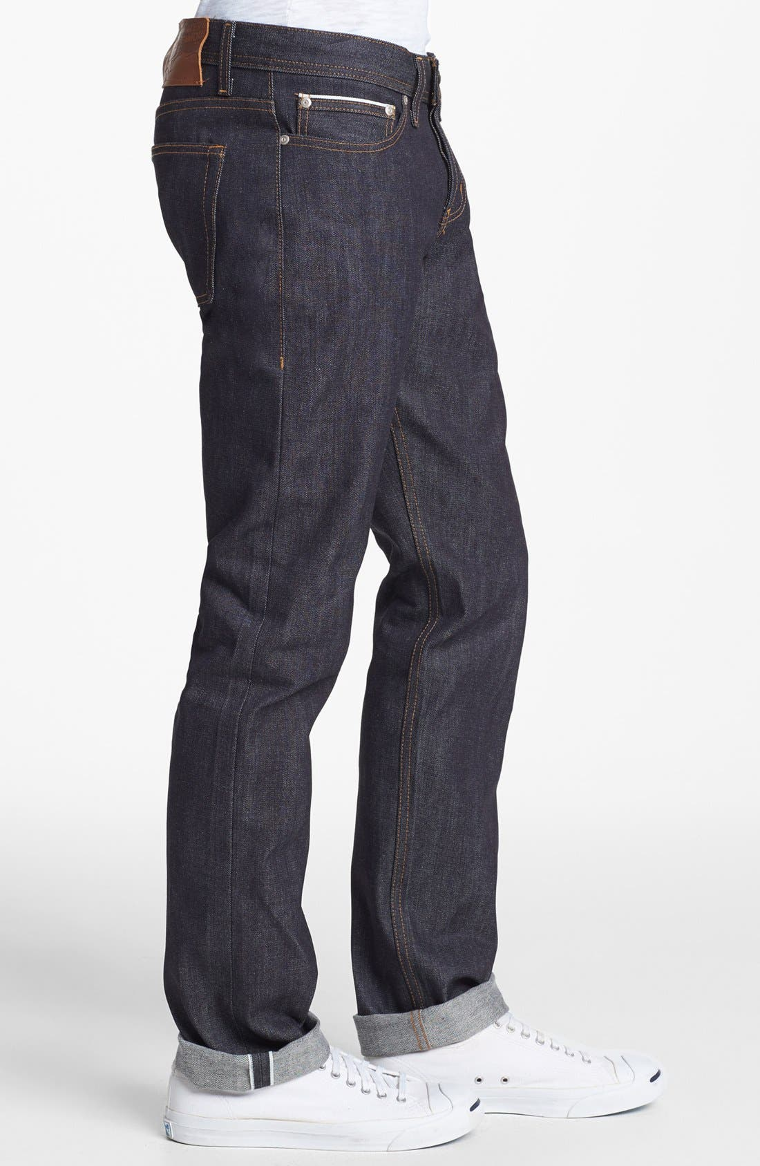 Weird Guy Slim Fit Jeans,                             Alternate thumbnail 8, color,                             LEFT HAND TWILL SELVEDGE