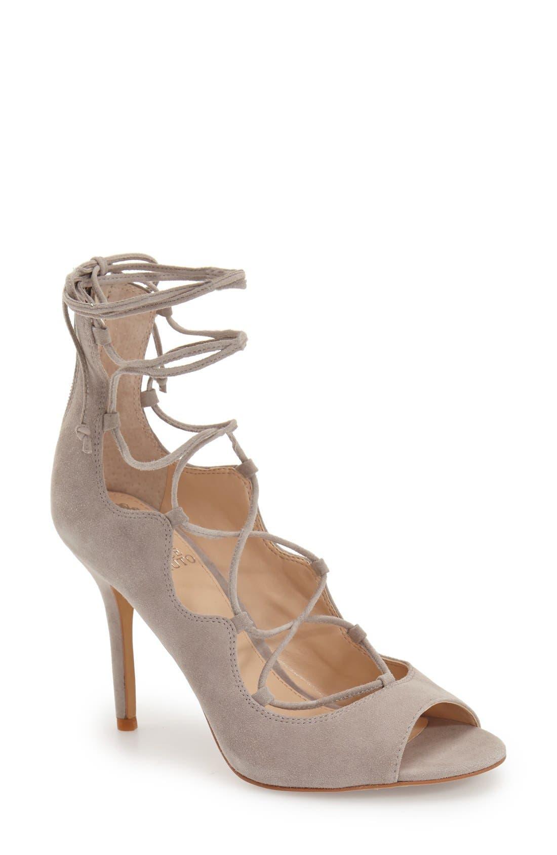 'Sandria' Peep Toe Ghillie Sandal,                             Main thumbnail 3, color,