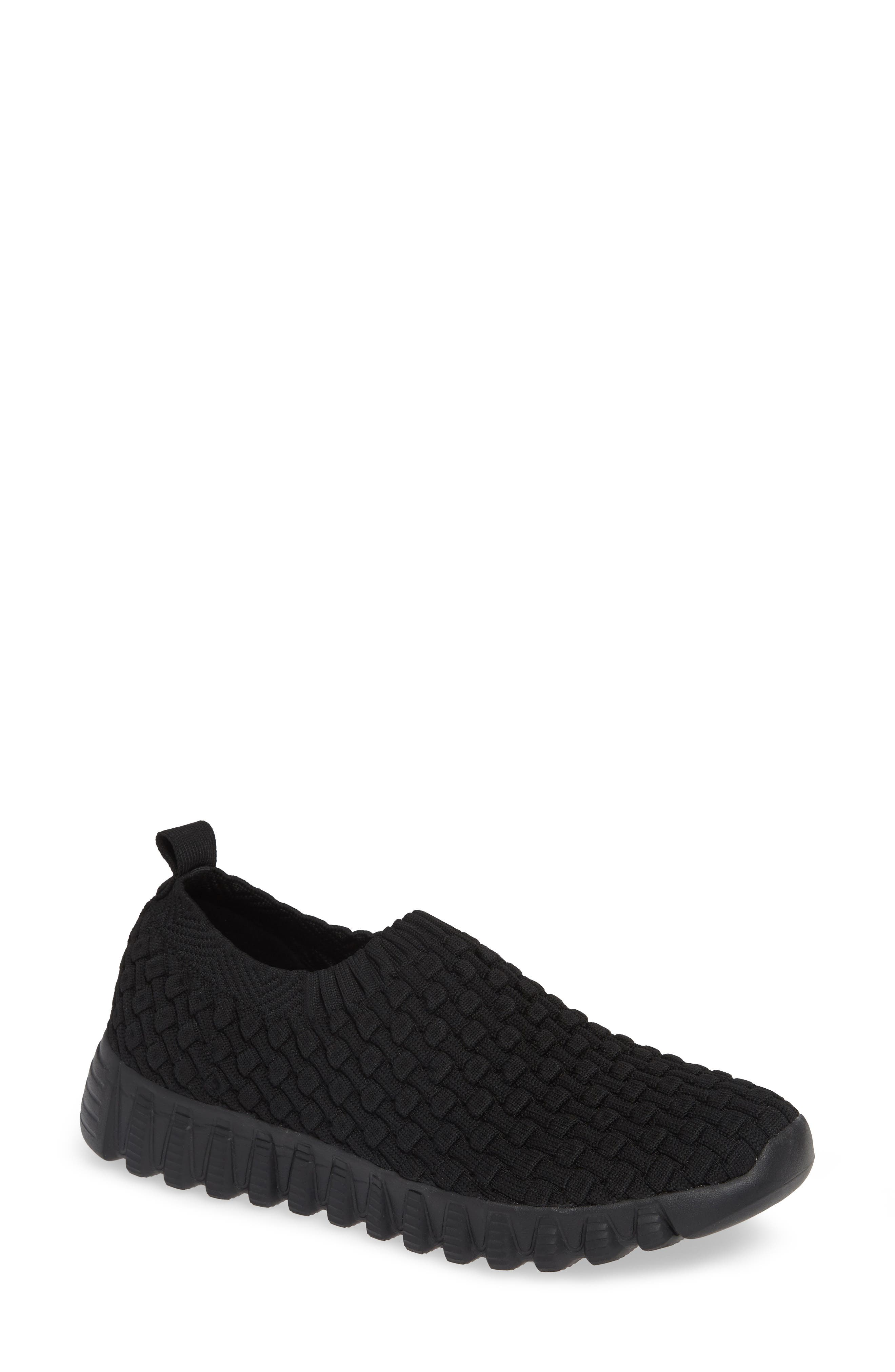 Tender Slip-On Sneaker,                             Main thumbnail 1, color,                             BLACK FABRIC