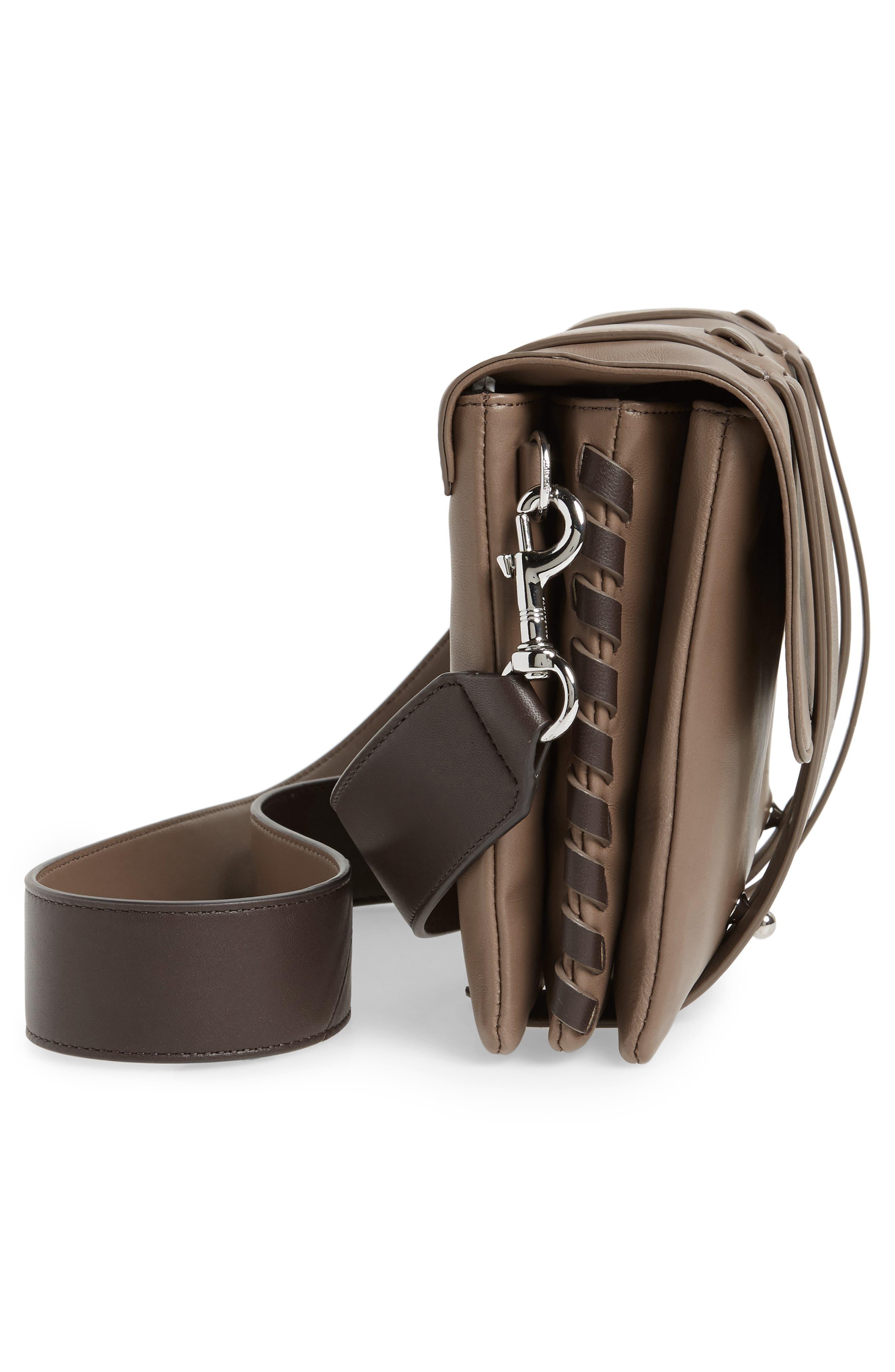 Fin Lambskin Leather Messenger Bag,                             Alternate thumbnail 9, color,