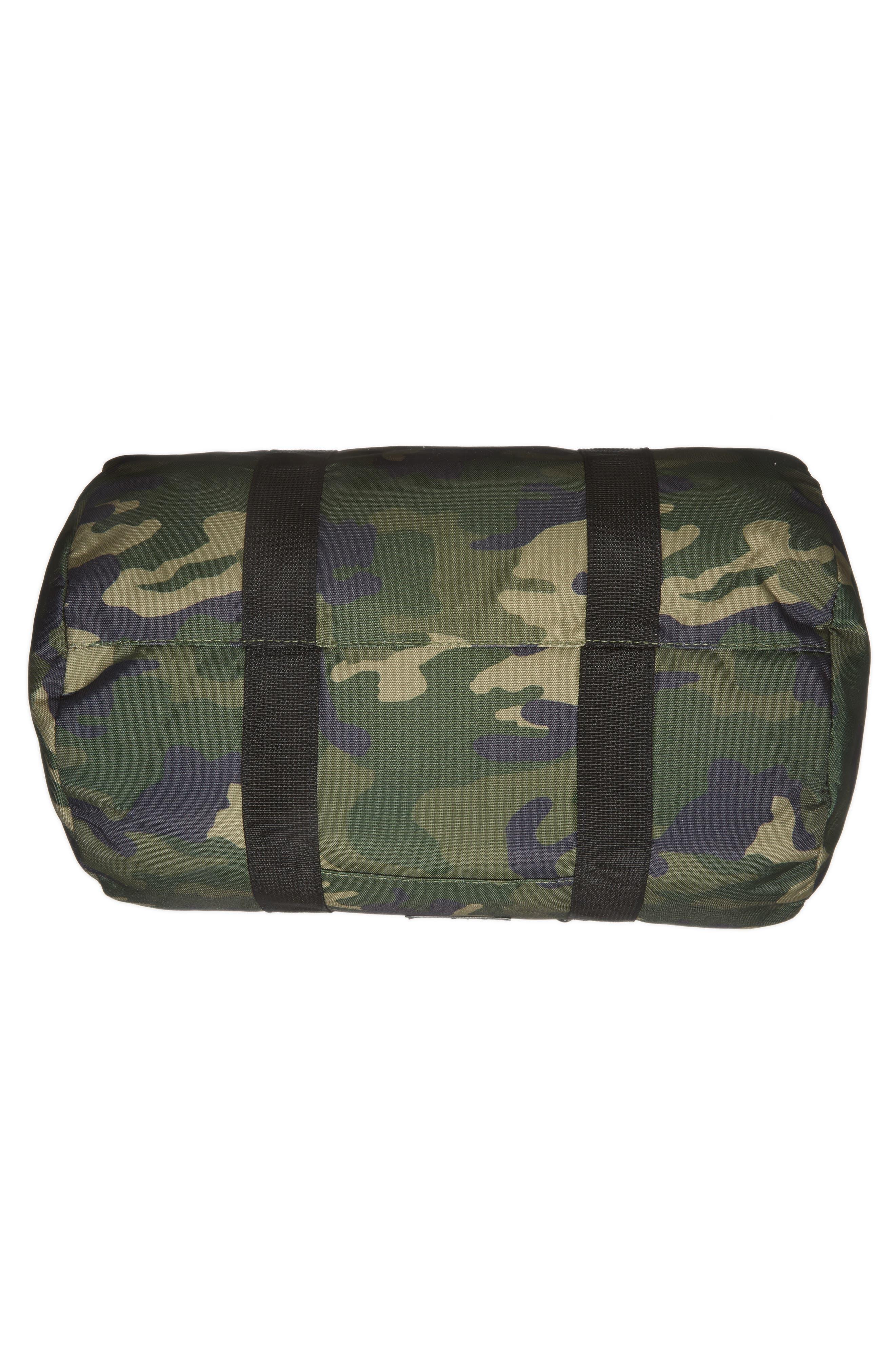 Roadie Small Duffel Bag,                             Alternate thumbnail 6, color,                             GREEN CAMO