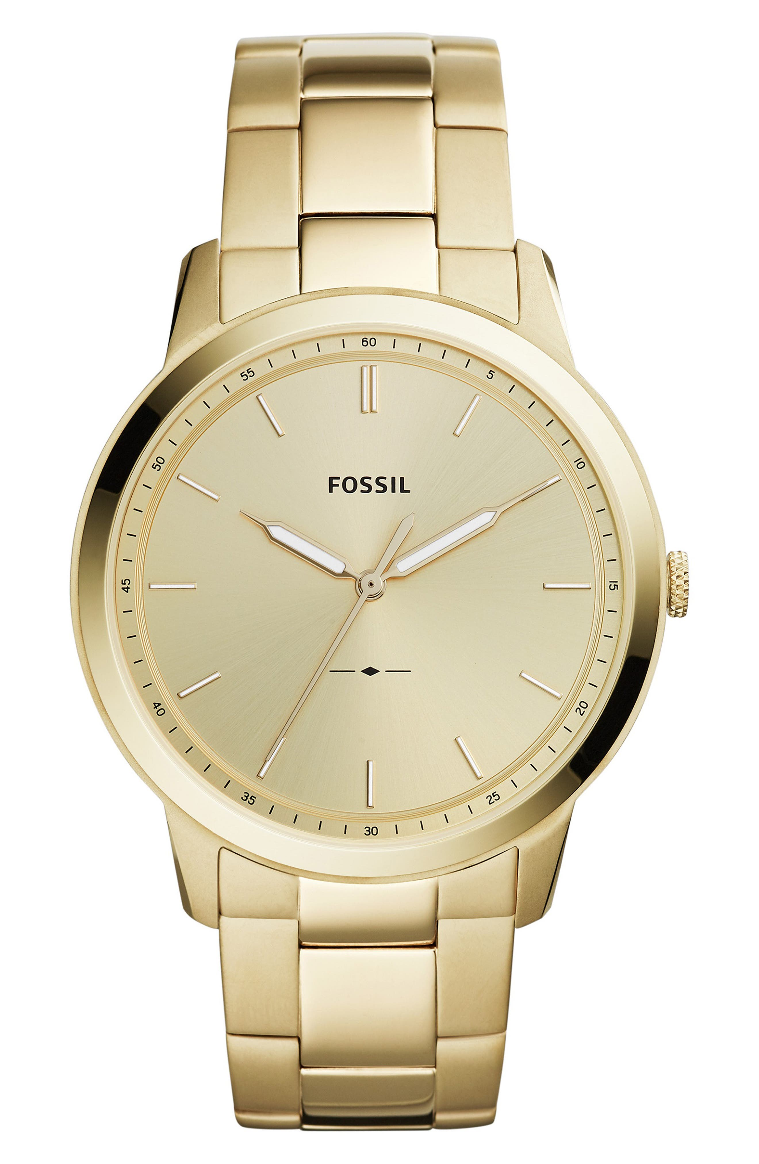 Minimalist Bracelet Watch, 44mm,                             Main thumbnail 1, color,                             GOLD