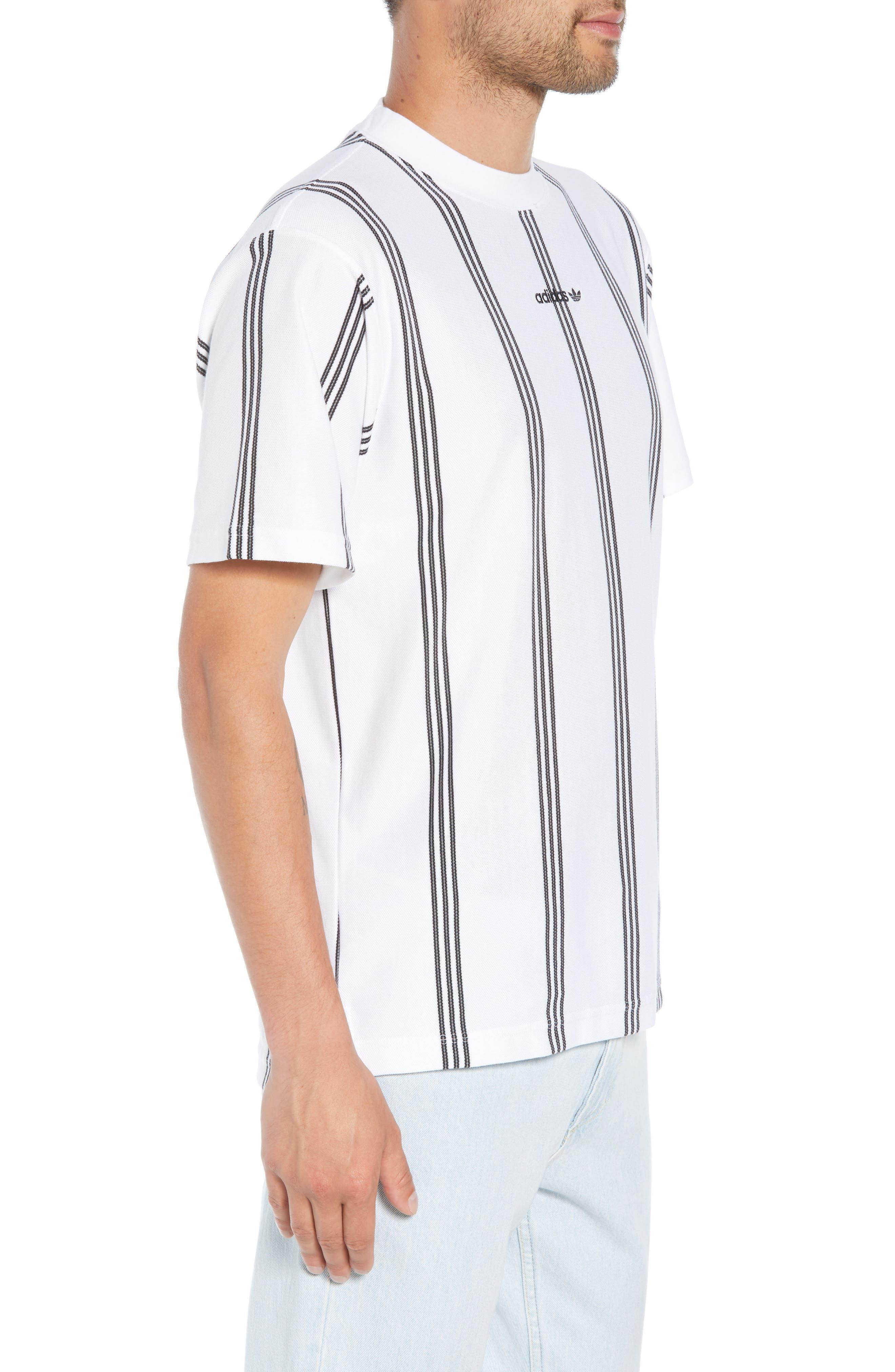 Stripe Tennis T-Shirt,                             Alternate thumbnail 3, color,                             100
