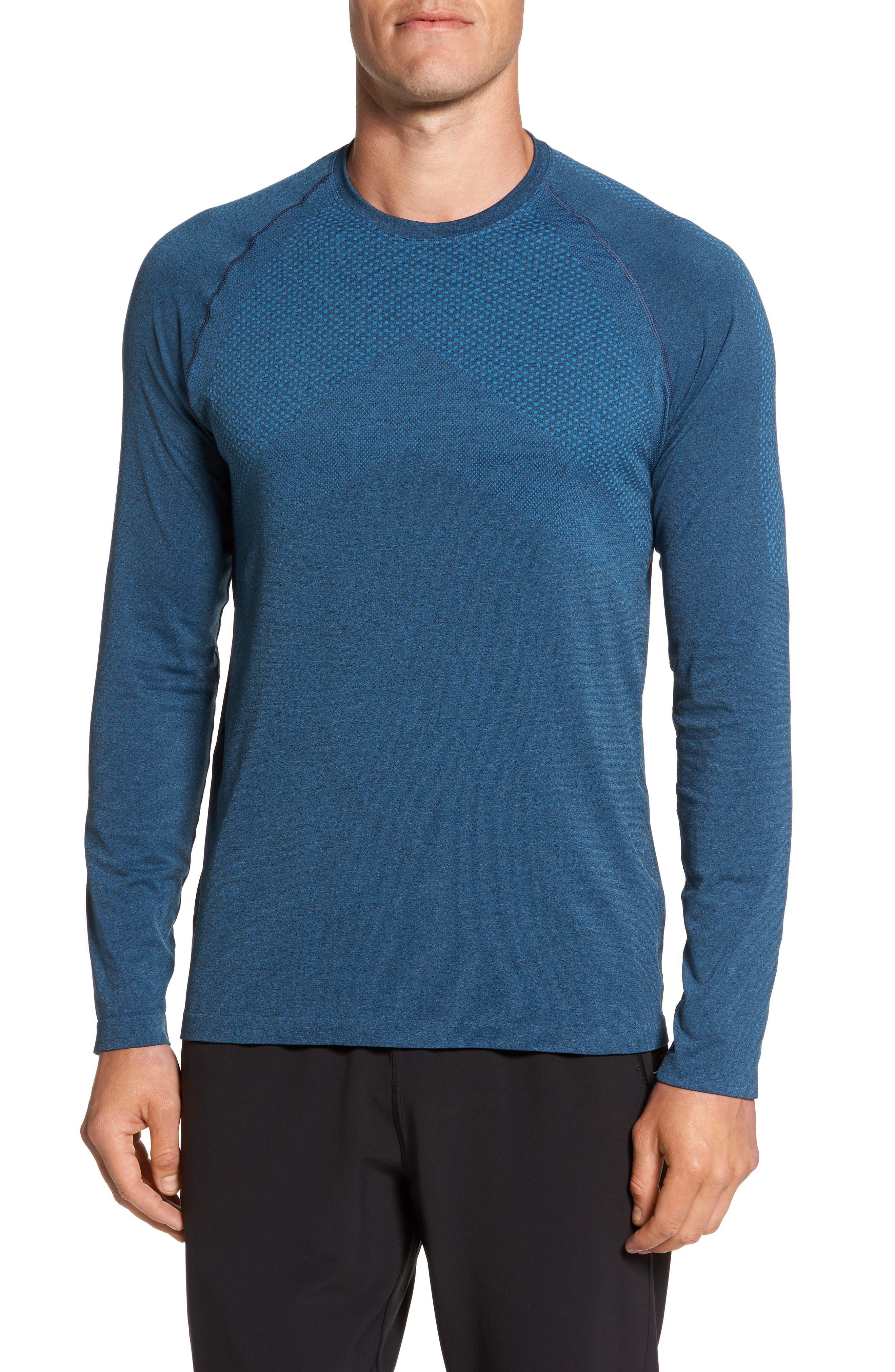 Zeolite Long Sleeve Performance T-Shirt,                             Main thumbnail 2, color,