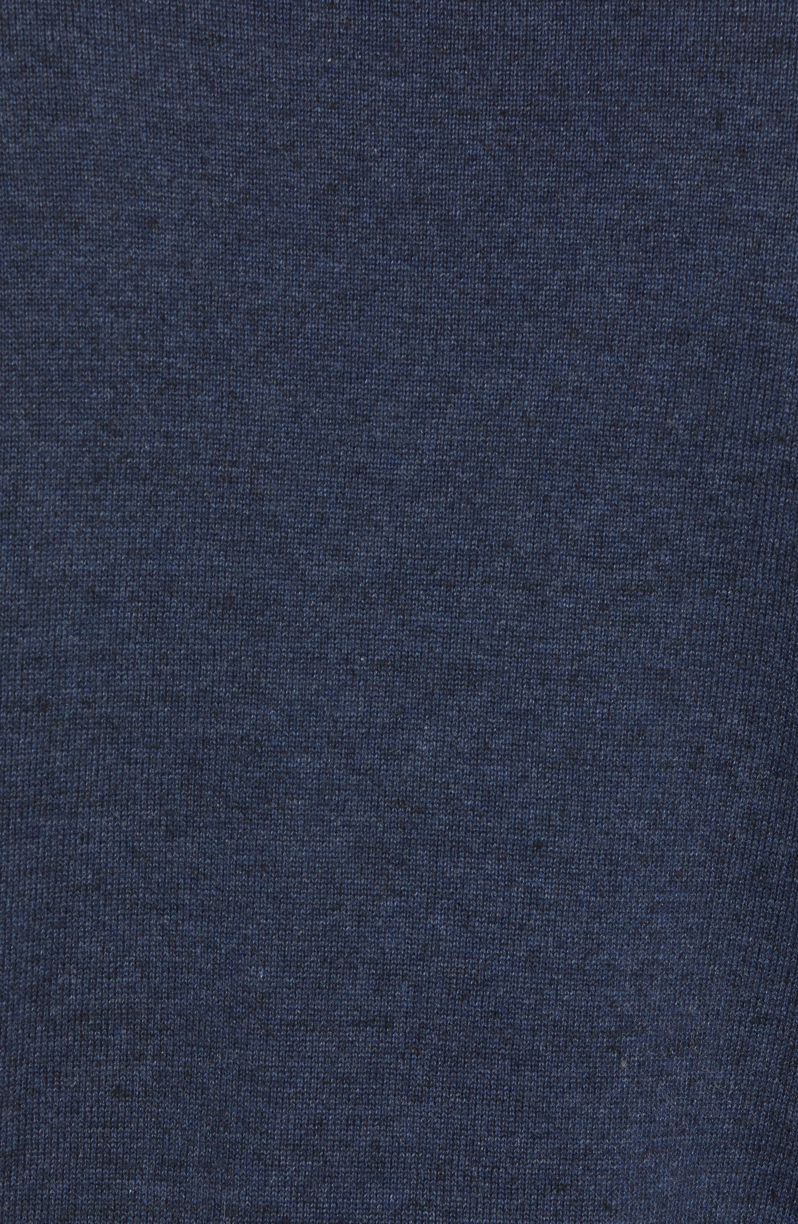McGill Slim Fit Crewneck Sweater,                             Alternate thumbnail 5, color,                             HEATHER NAVY