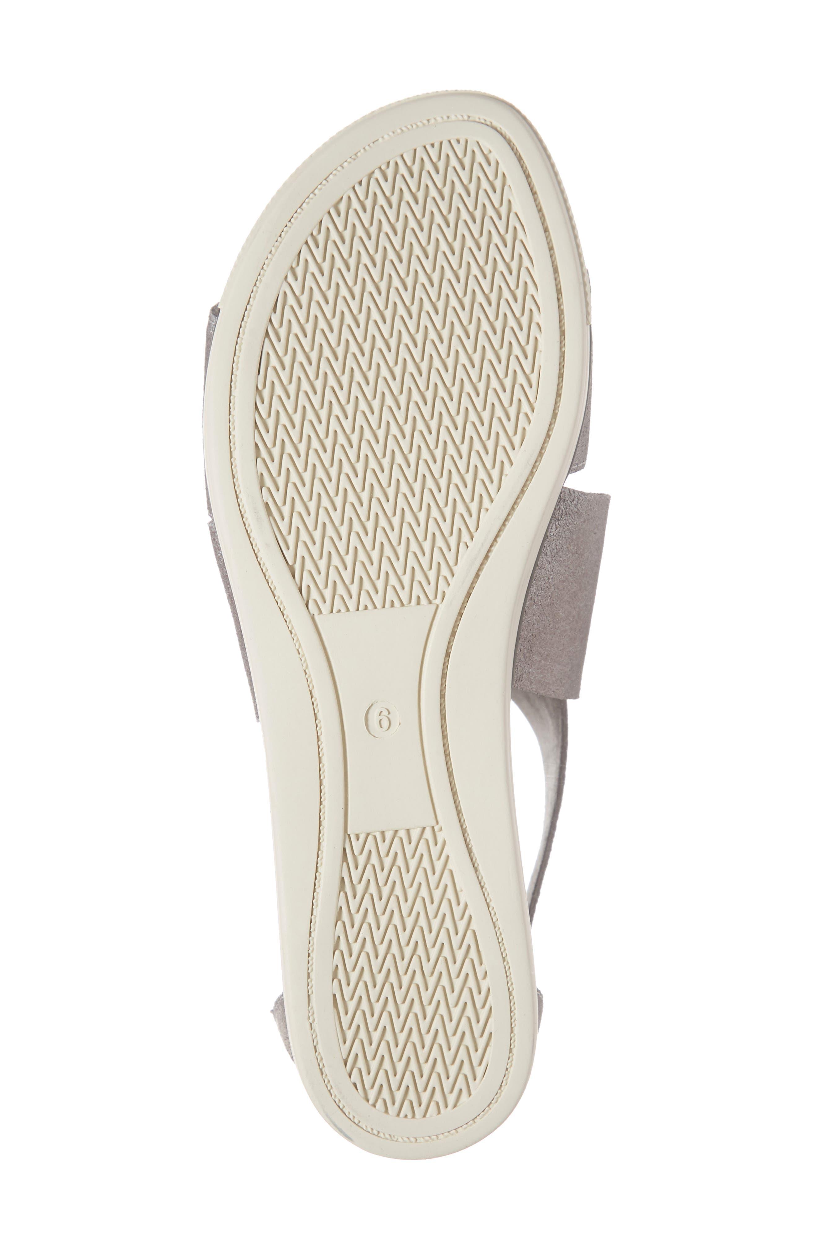 EILEEN FISHER,                             Sport Platform Sandal,                             Alternate thumbnail 6, color,                             SILVER METALLIC