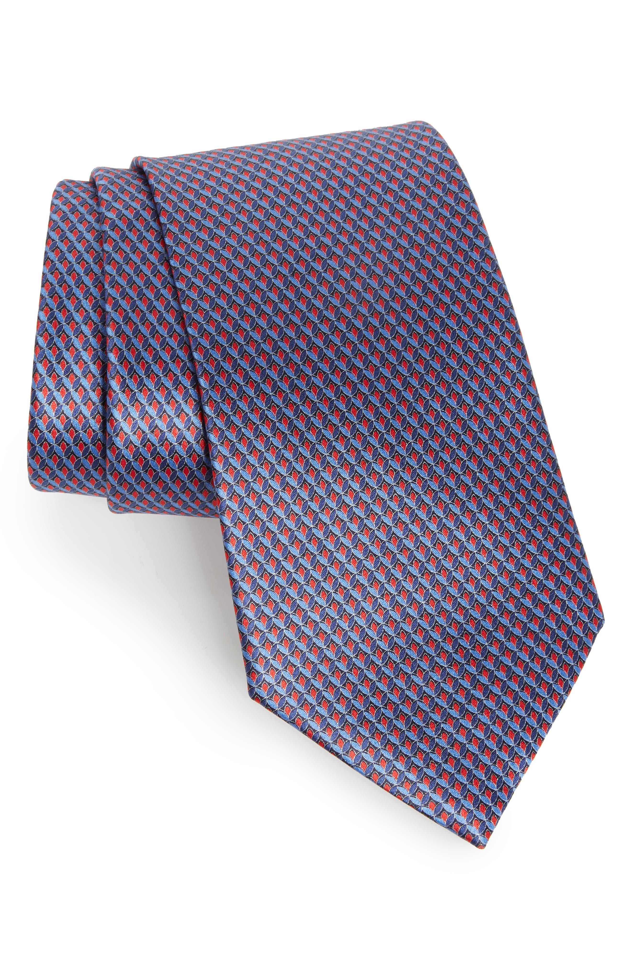 Solid Silk Tie,                         Main,                         color, RED