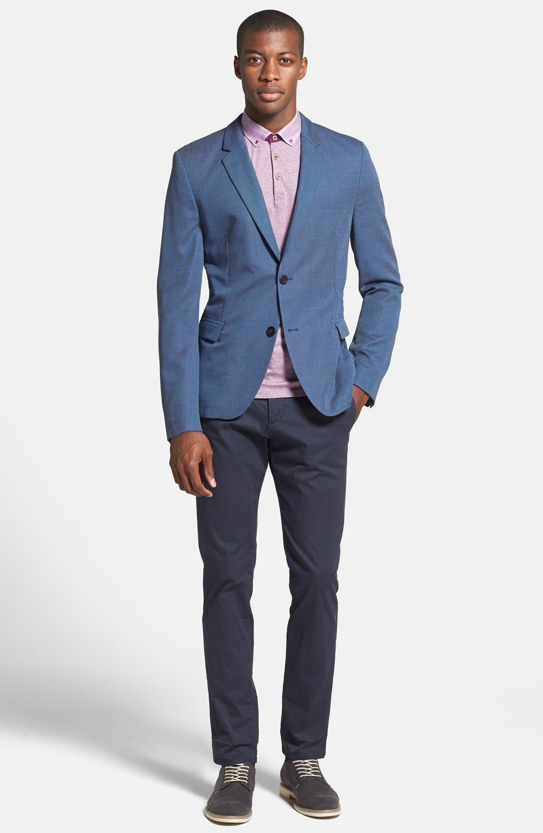ZZDNUHUGO BOSS,                             HUGO 'Arnandos' Slim Fit Virgin Wool Sport Coat,                             Alternate thumbnail 3, color,                             420