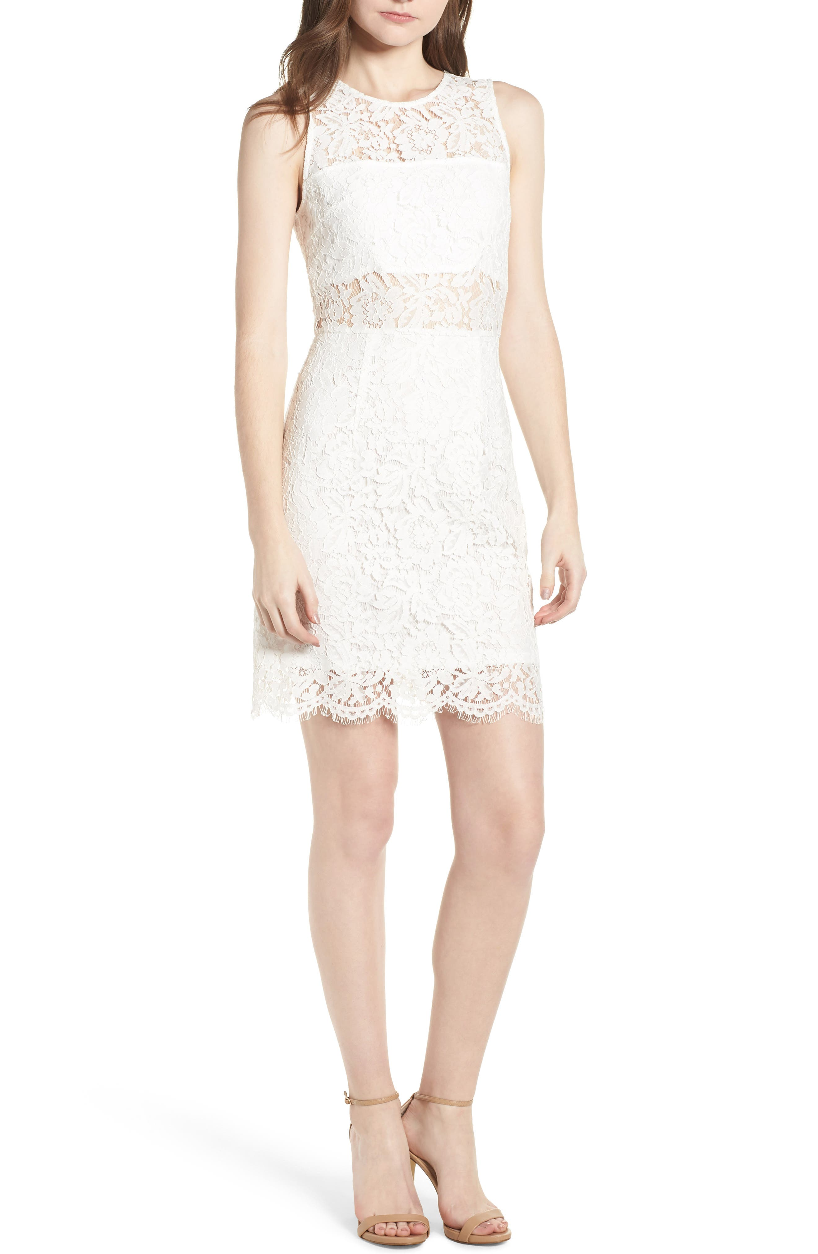 Lace Sheath Dress,                             Main thumbnail 1, color,                             900