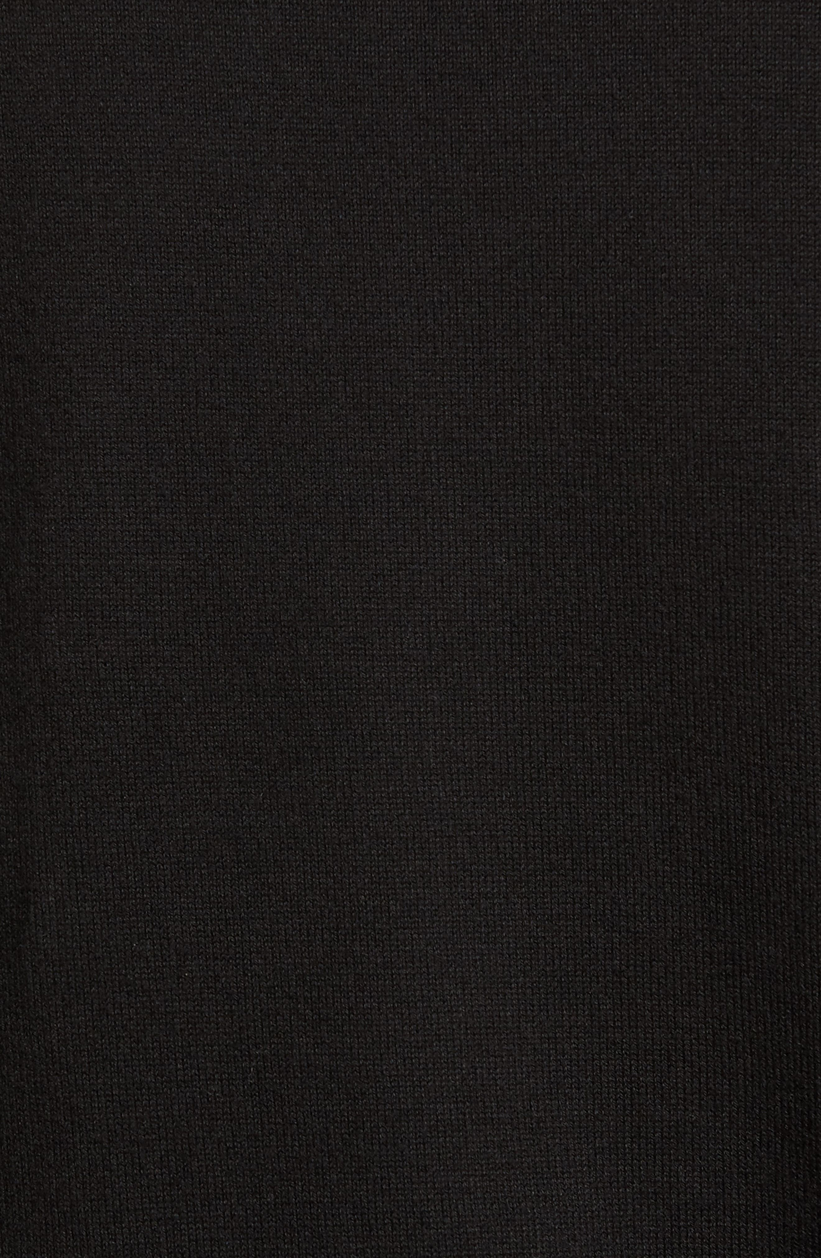Lakemont Half Zip Sweater,                             Alternate thumbnail 5, color,                             BLACK