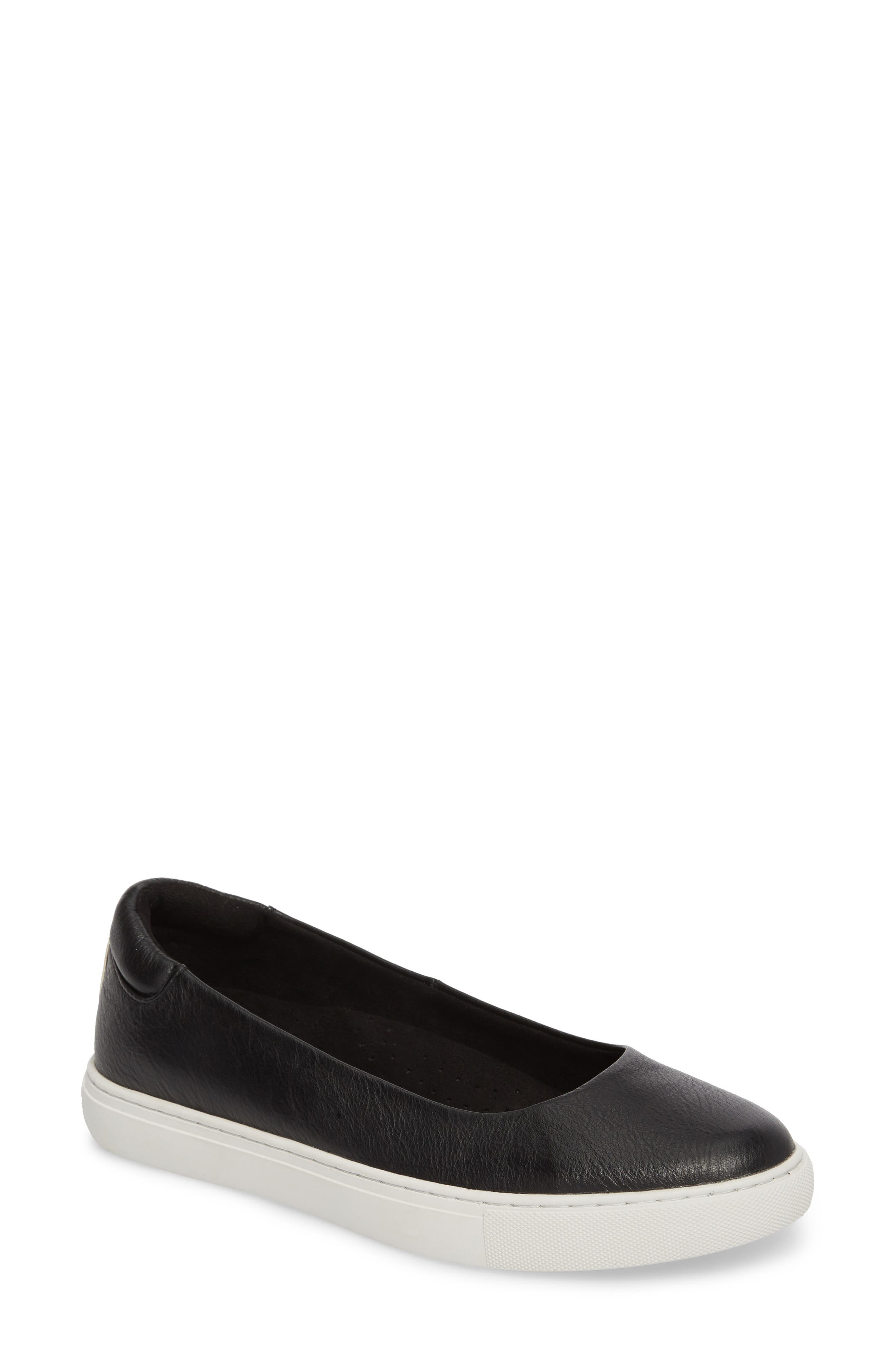 Kassie Flat,                         Main,                         color, BLACK LEATHER