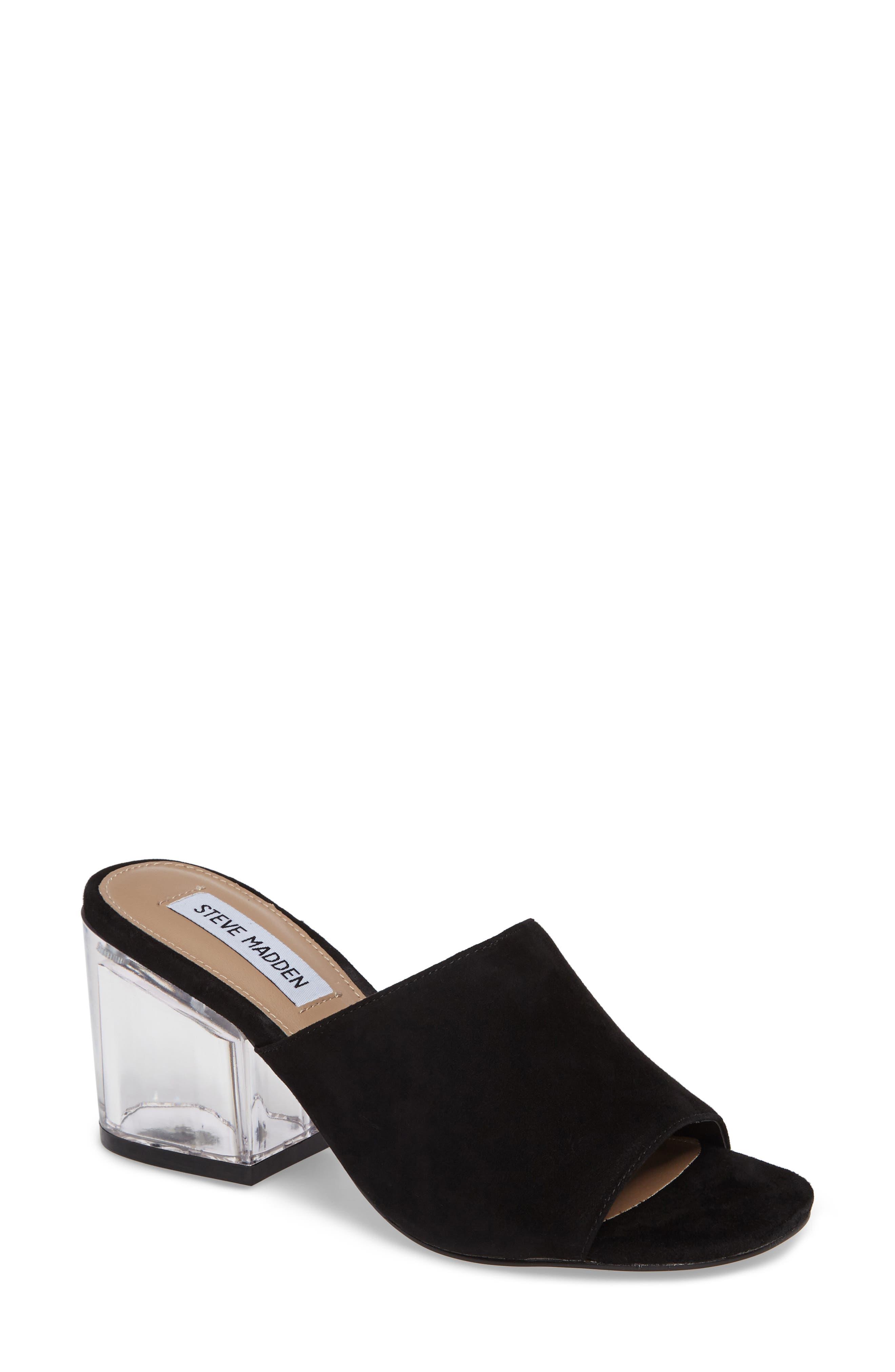 Dalis Clear Heel Slide Sandal,                             Main thumbnail 1, color,                             006
