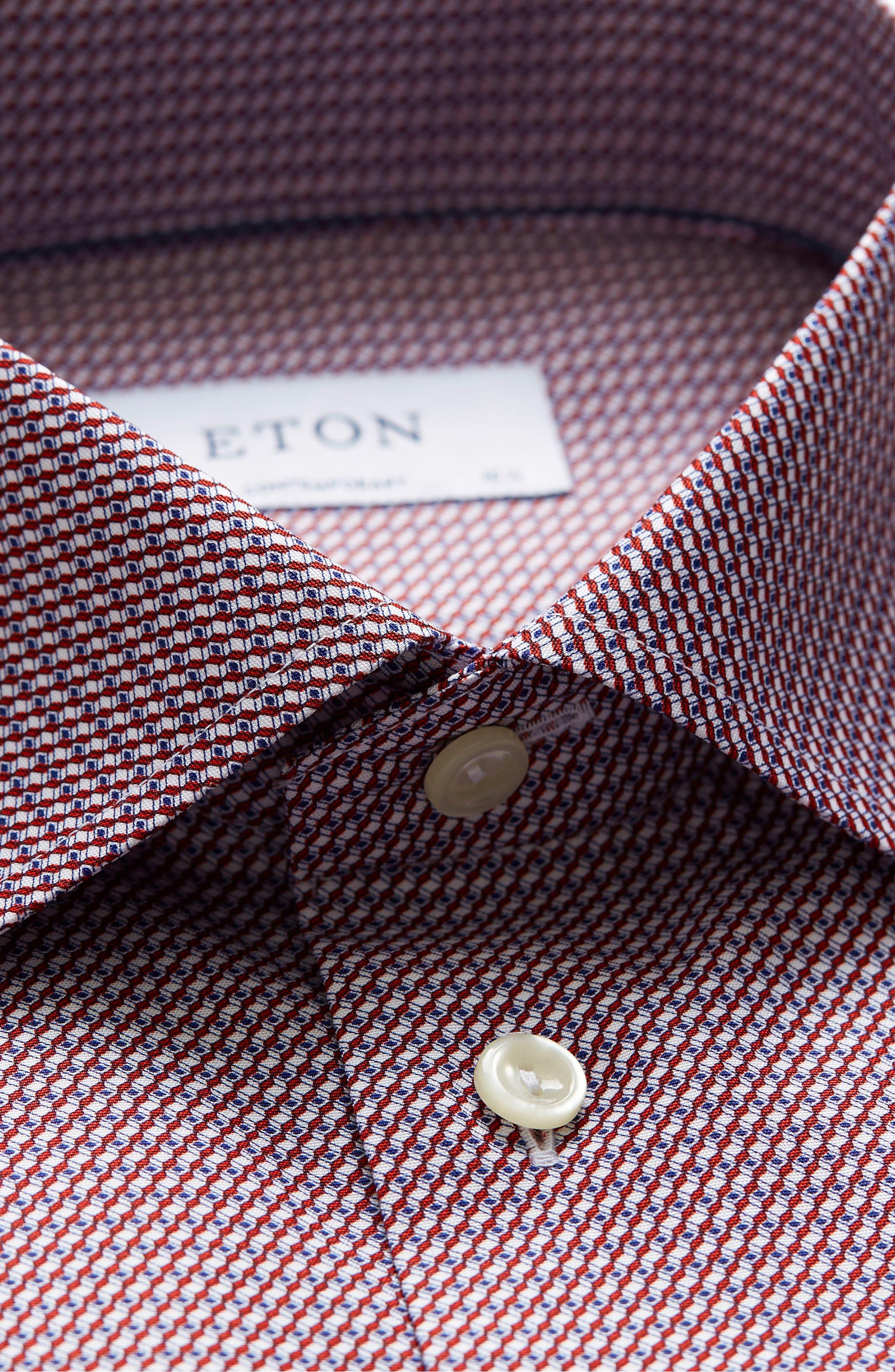 Contemporary Fit Geometric Dress Shirt,                             Alternate thumbnail 3, color,                             649