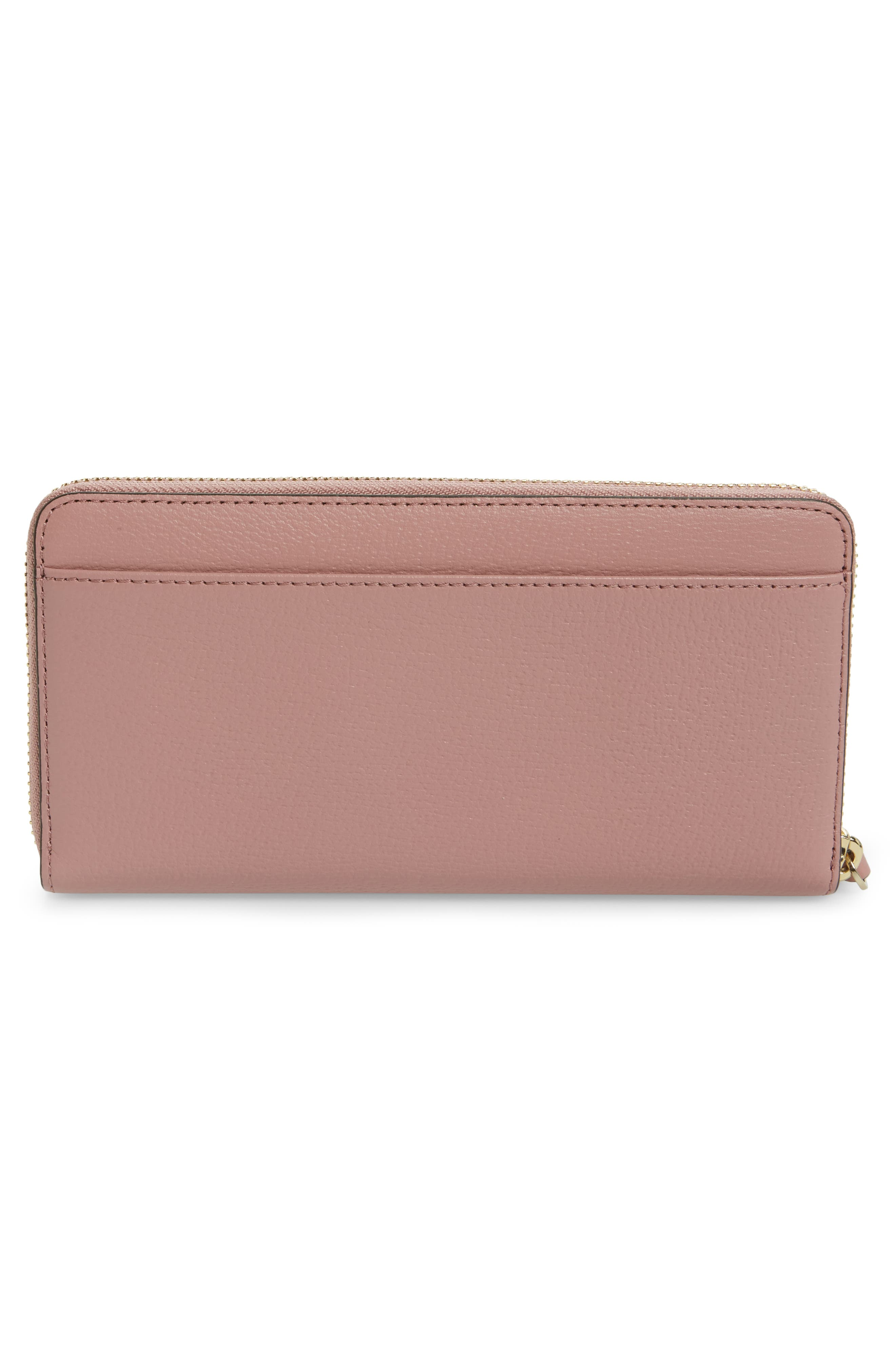olive drive - lacey bow leather wallet,                             Alternate thumbnail 6, color,