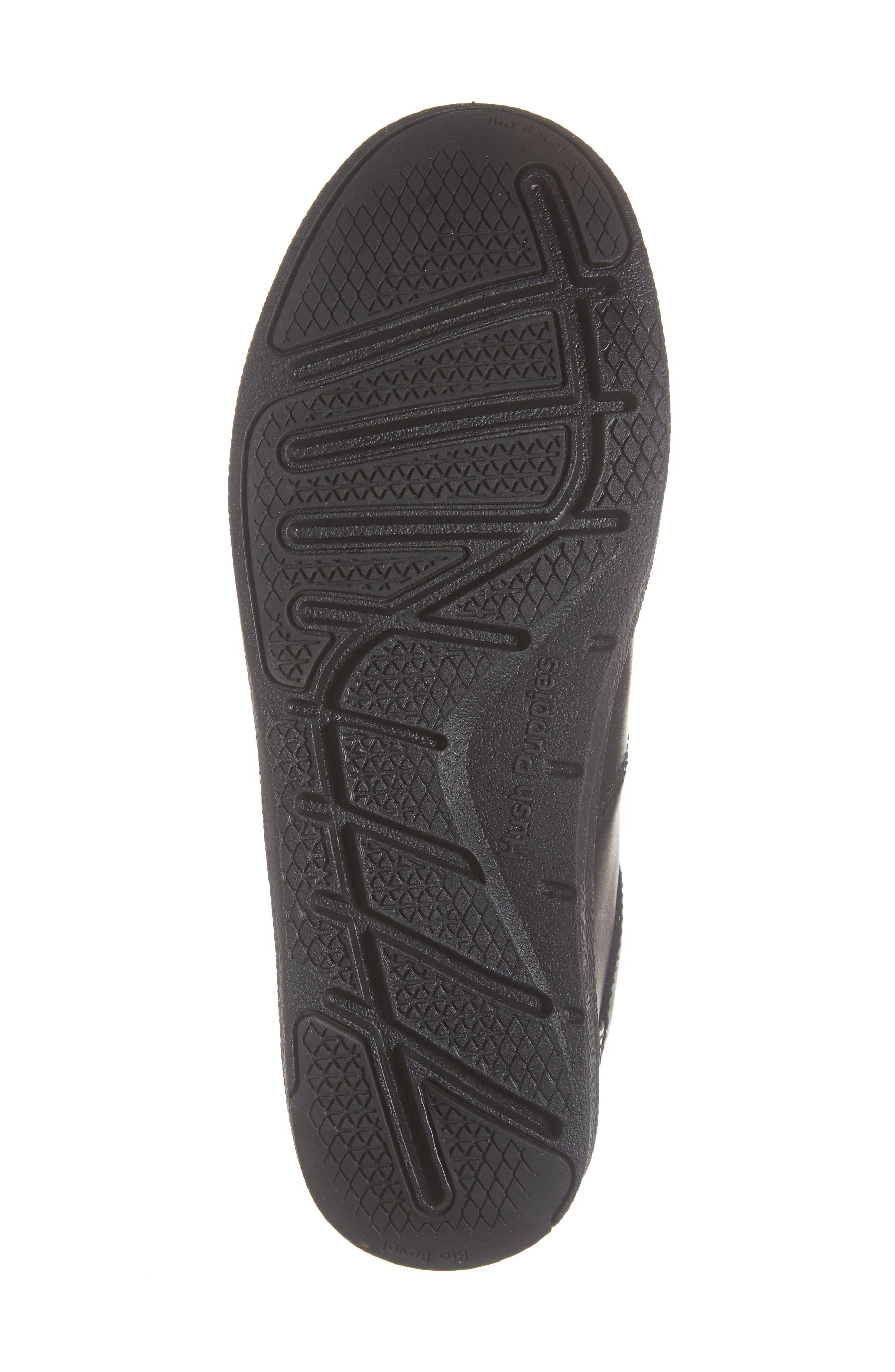 Layden Genius Leather Sneaker,                             Alternate thumbnail 6, color,                             BLACK/ BLACK