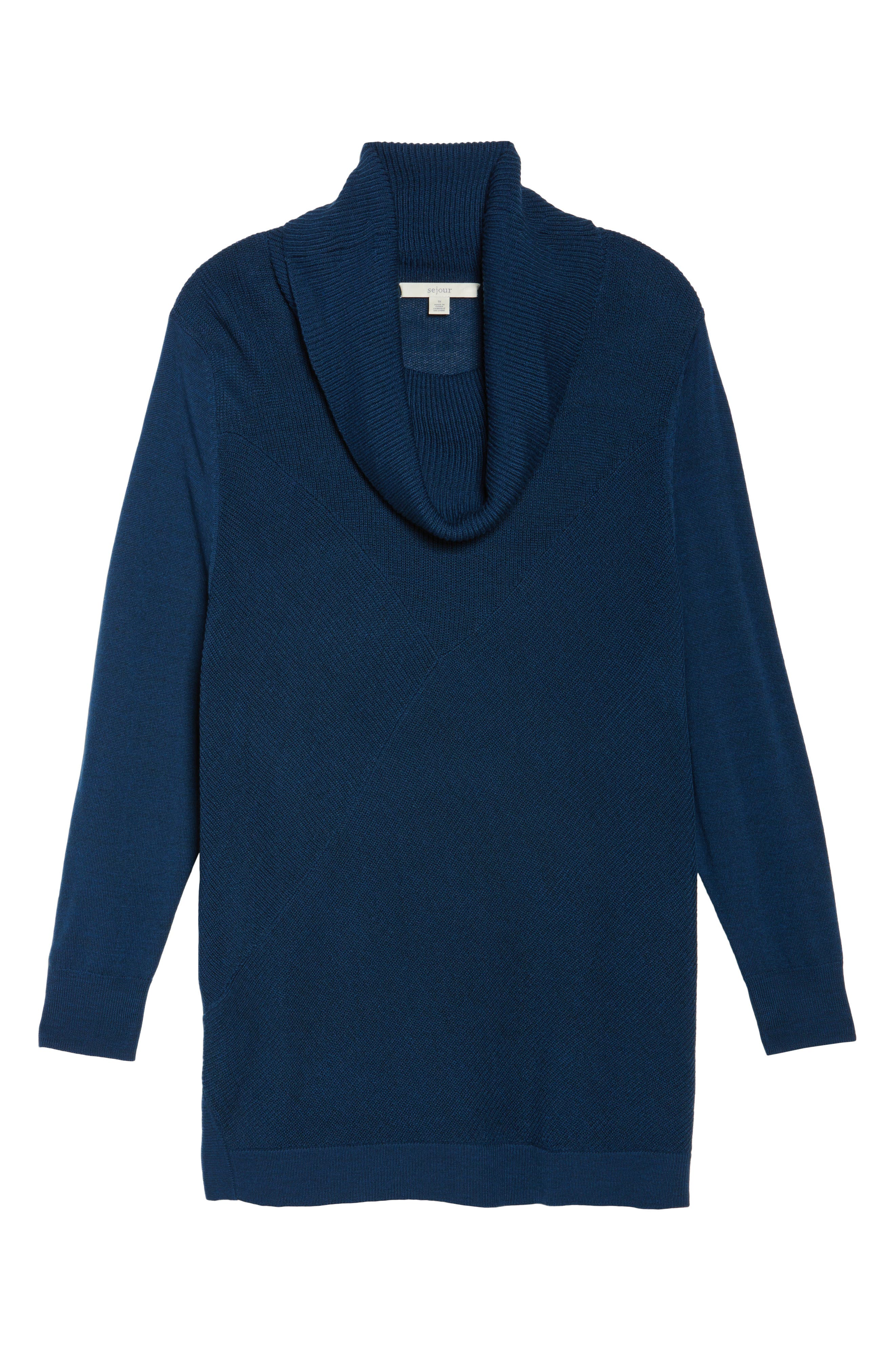 Cowl Neck Ribbed Trim Pullover,                             Alternate thumbnail 35, color,