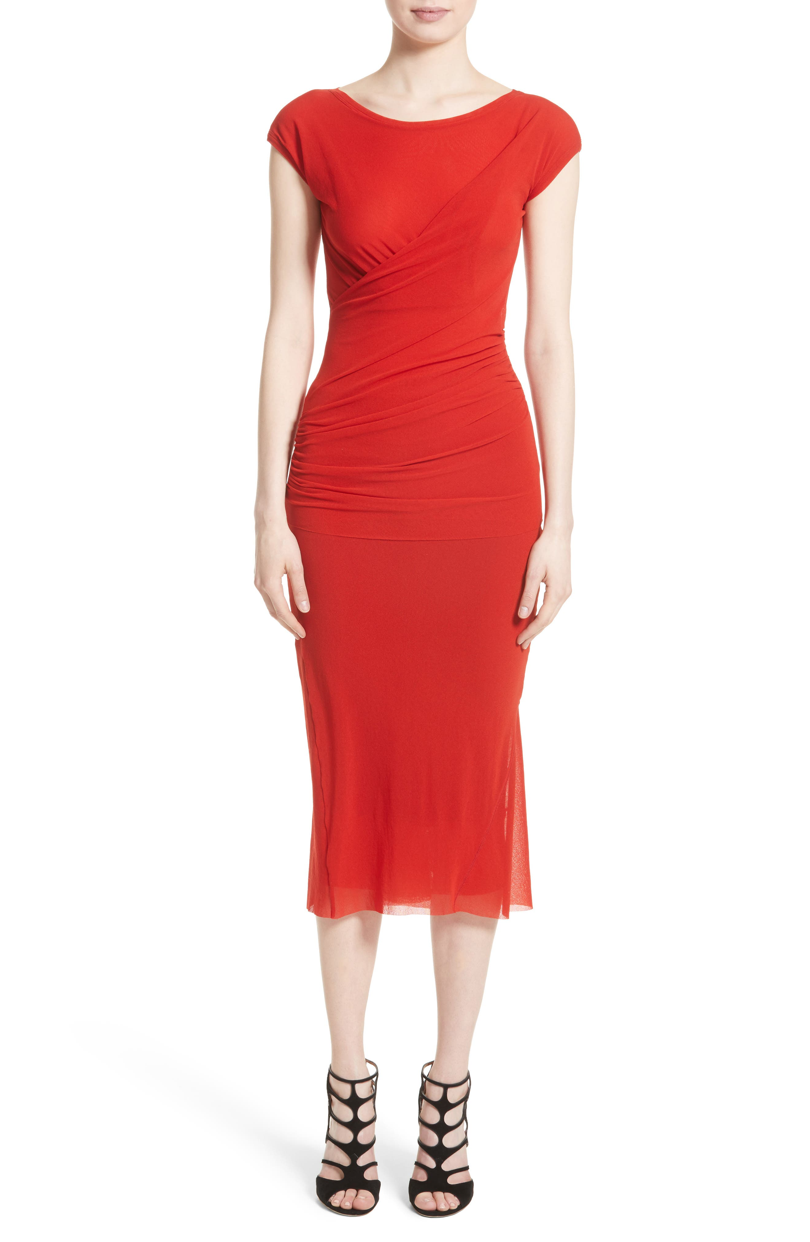 Ruched Tulle Top,                             Alternate thumbnail 6, color,                             614