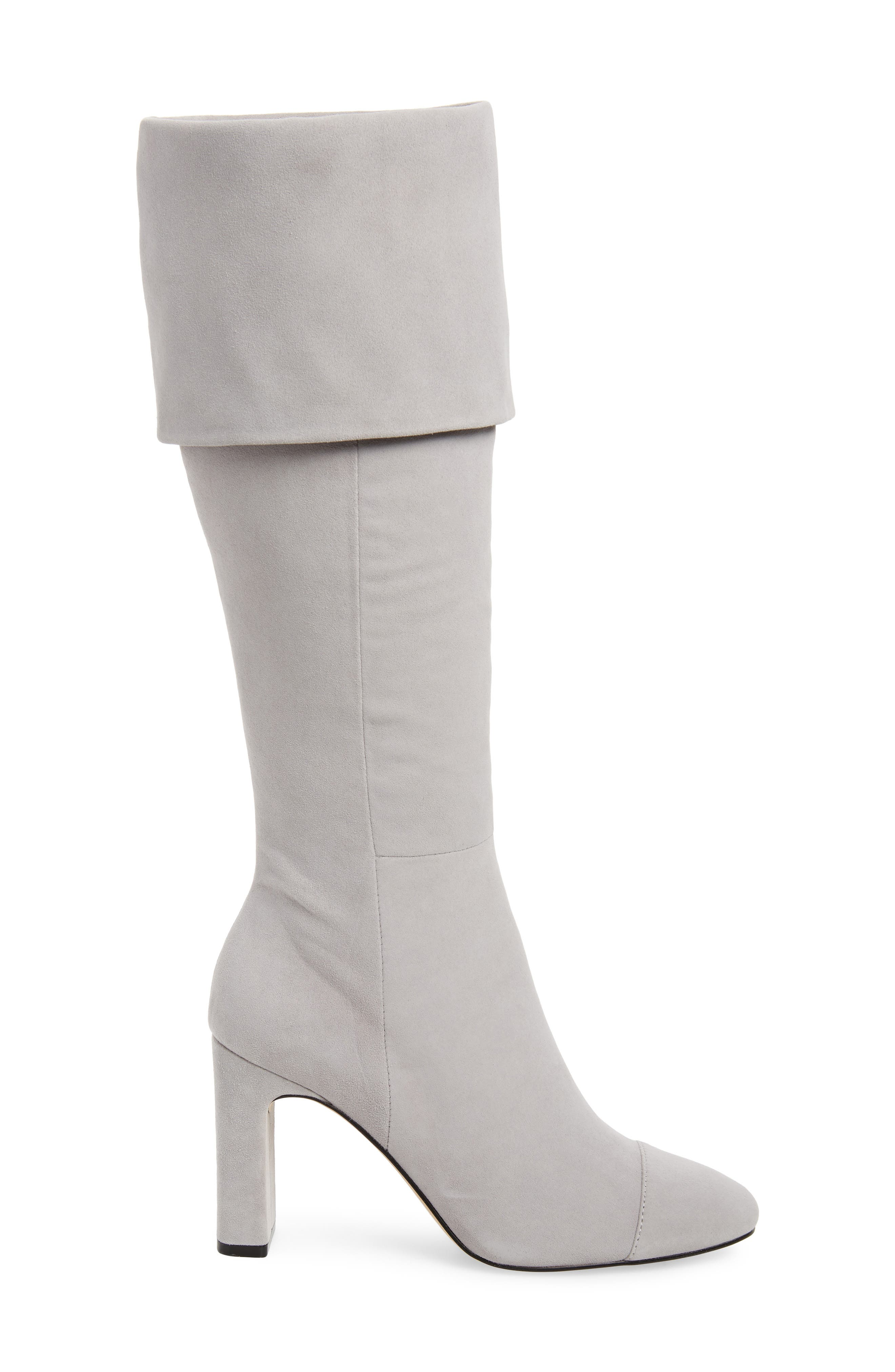 Mia Knee High Boot,                             Alternate thumbnail 4, color,                             LIGHT GREY SUEDE