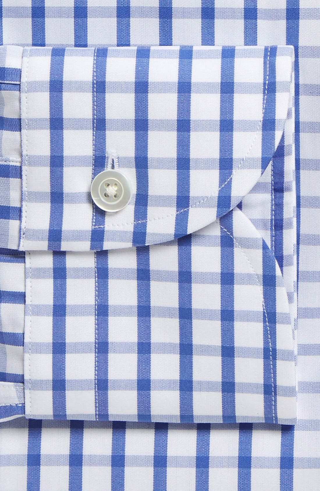 'Urbana Box' Slim Fit Check Dress Shirt,                             Alternate thumbnail 2, color,                             BLUE