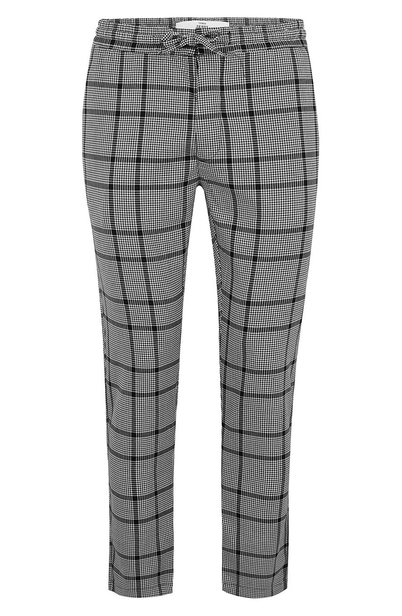 Dogtooth Check Woven Jogger Pants,                             Alternate thumbnail 4, color,                             GREY MULTI
