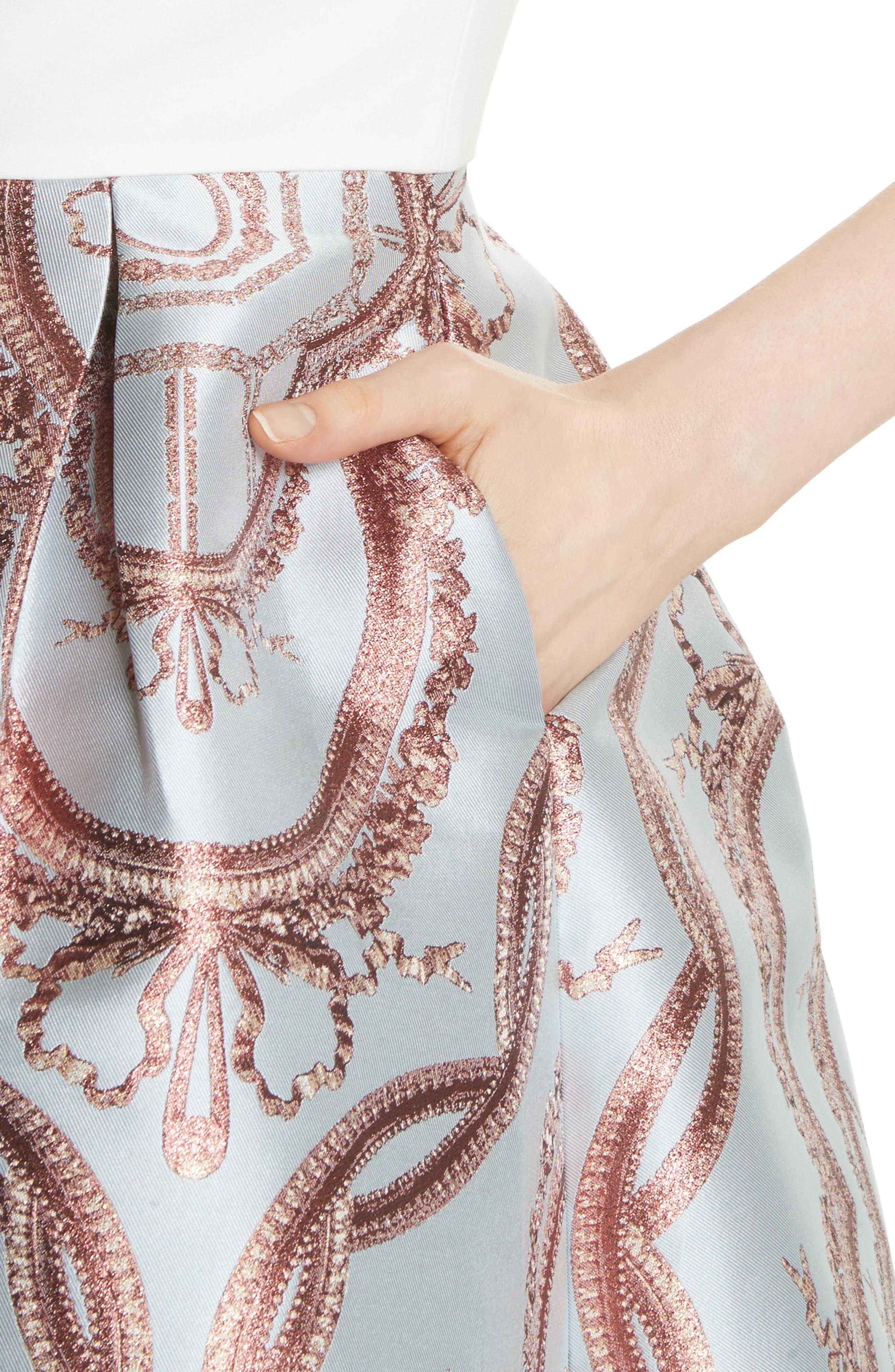 Versailles Fit & Flare Dress,                             Alternate thumbnail 4, color,