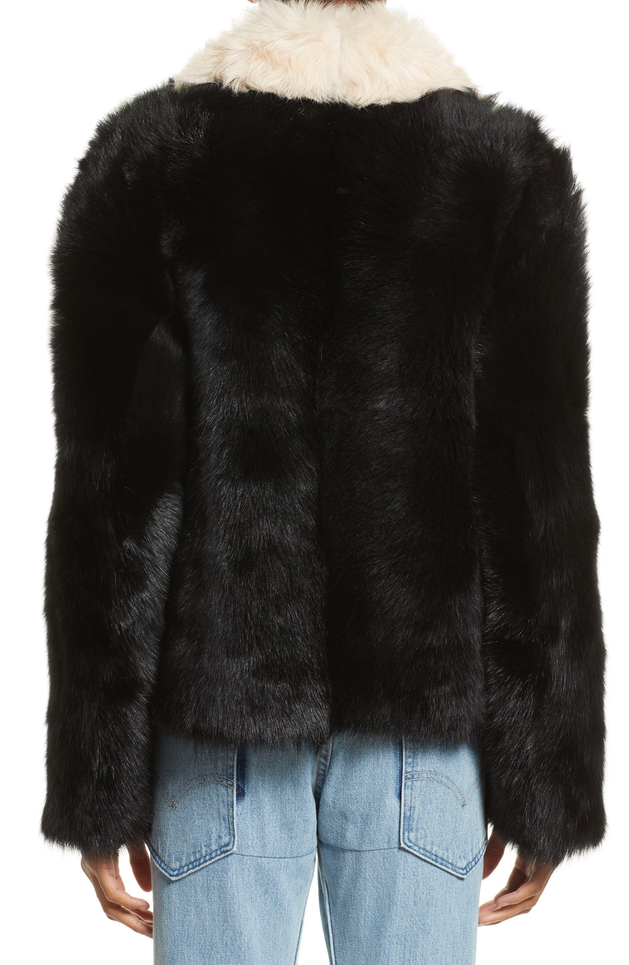 Cashew Genuine Shearling Coat,                             Alternate thumbnail 3, color,