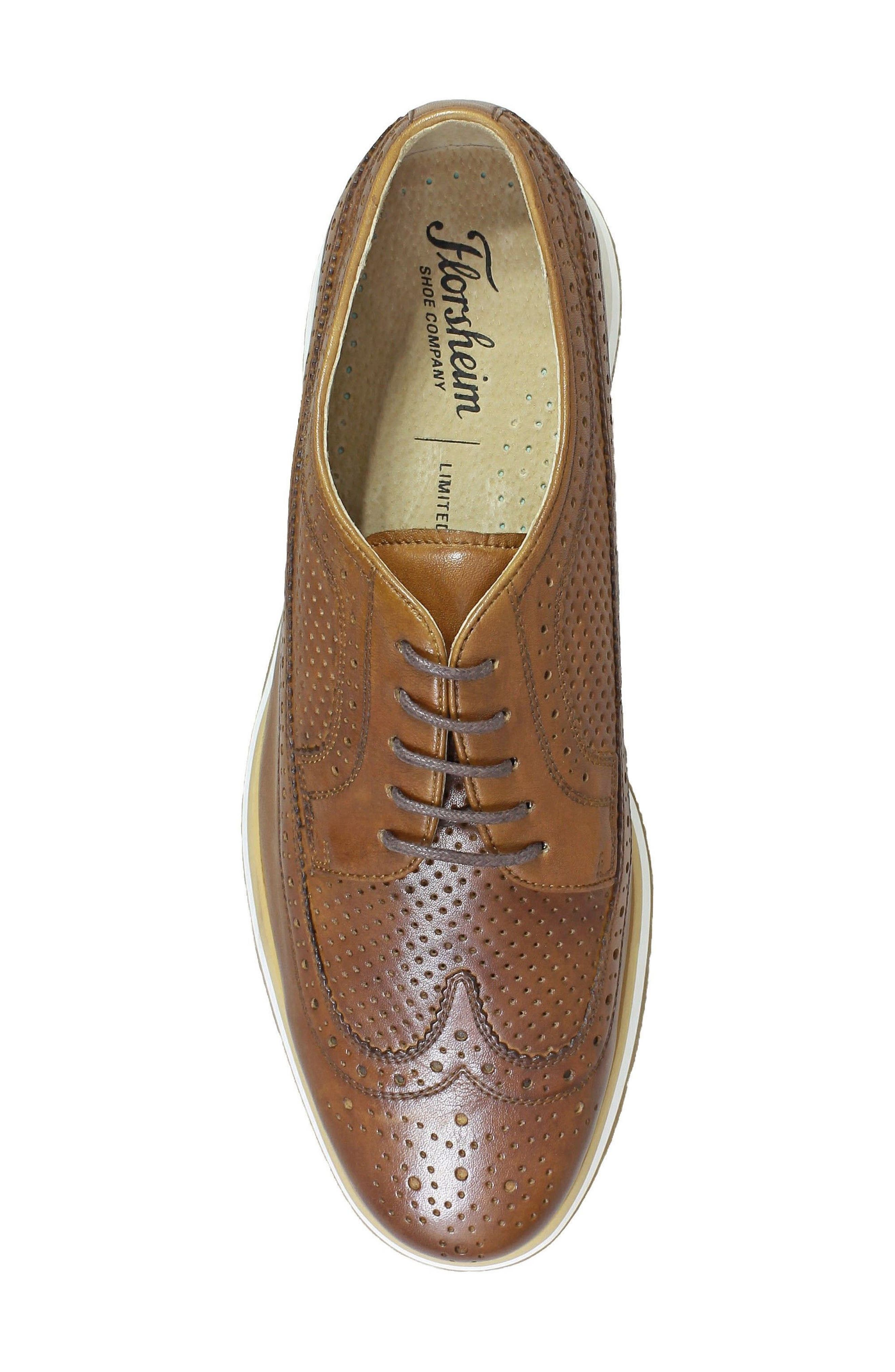 Limited Flux Perforated Wingtip Derby,                             Alternate thumbnail 13, color,