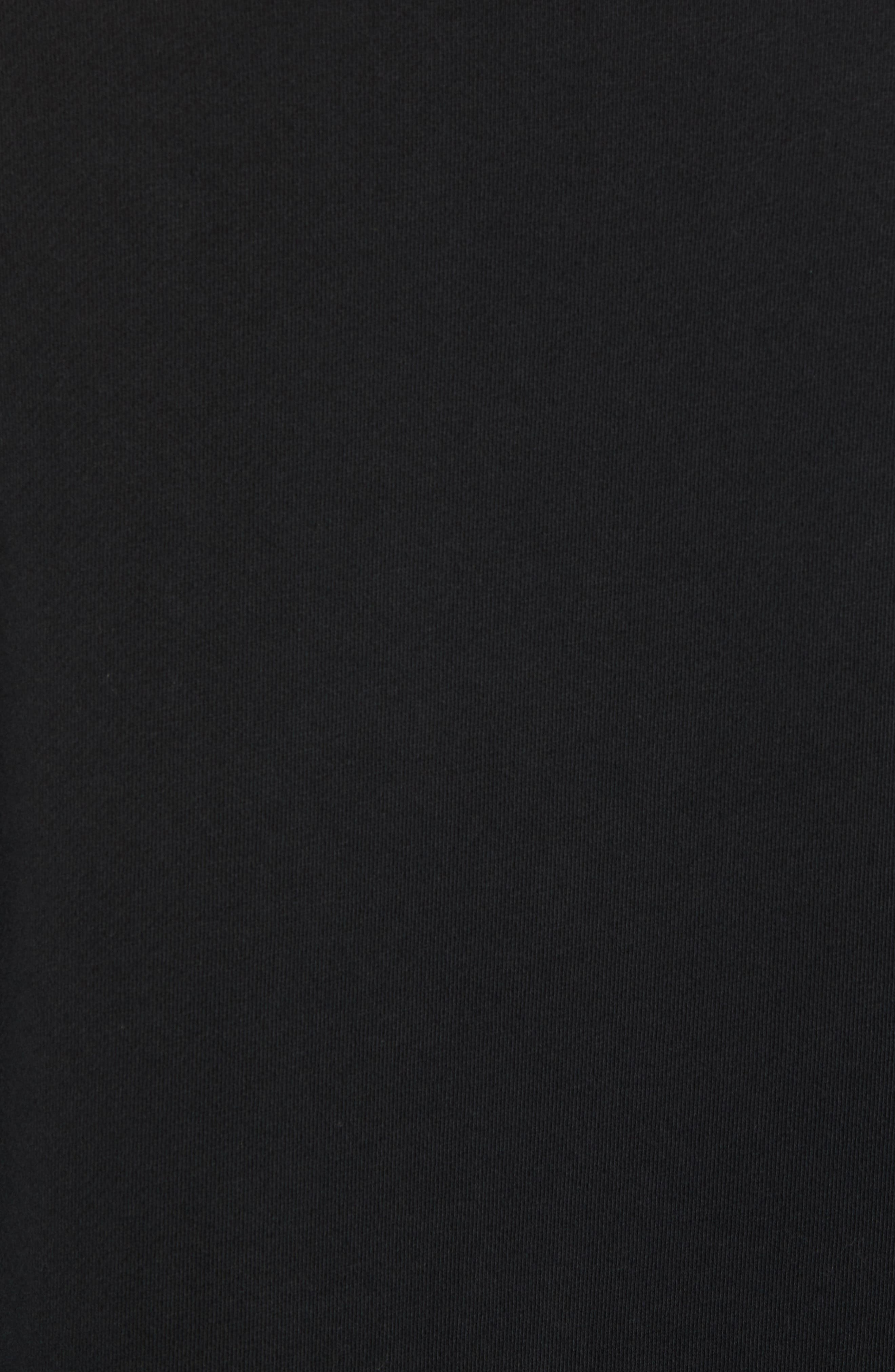 Raw Edge Zipper Crewneck,                             Alternate thumbnail 5, color,                             001