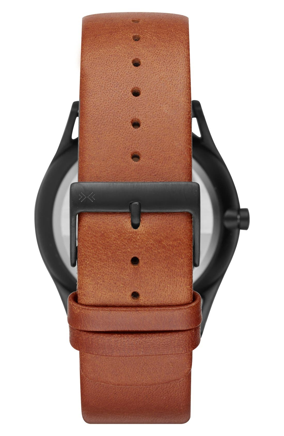'Holst' Multifunction Leather Strap Watch, 40mm,                             Alternate thumbnail 14, color,