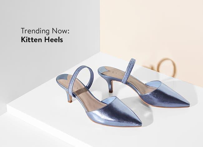 Women's kitten heels.