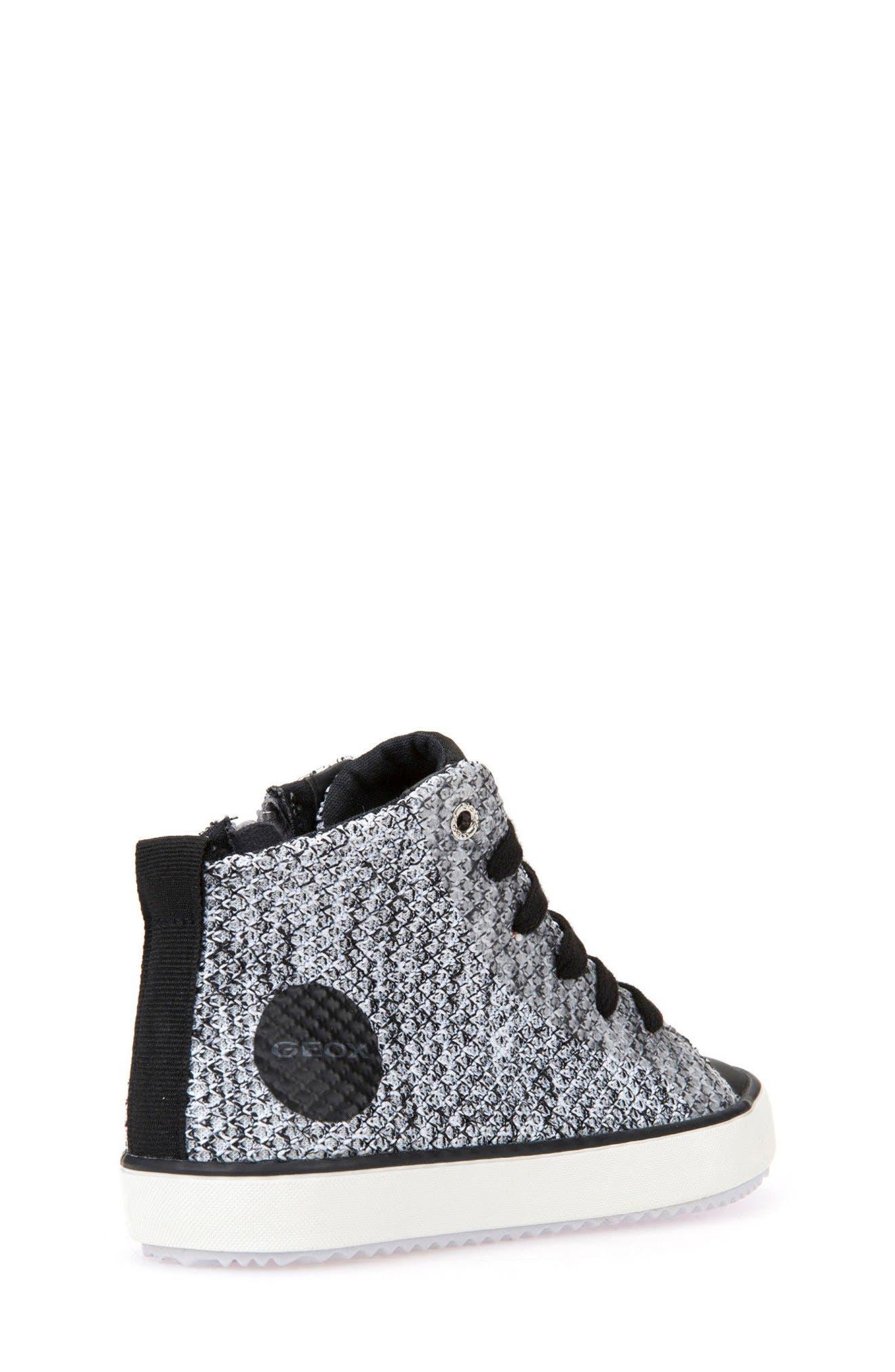Alonisso Knit Mid Top Sneaker,                             Alternate thumbnail 2, color,                             WHITE/ BLACK