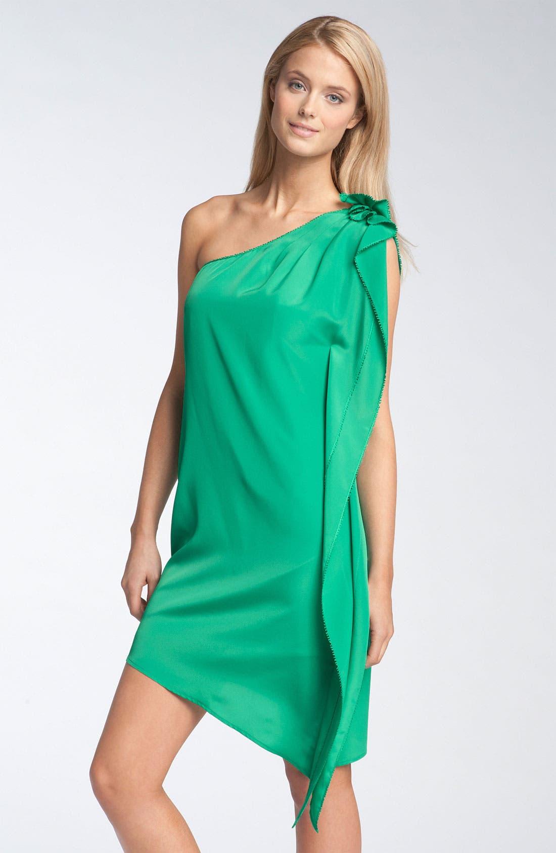 JESSICA SIMPSON,                             One Shoulder Ruffle Dress,                             Main thumbnail 1, color,                             310
