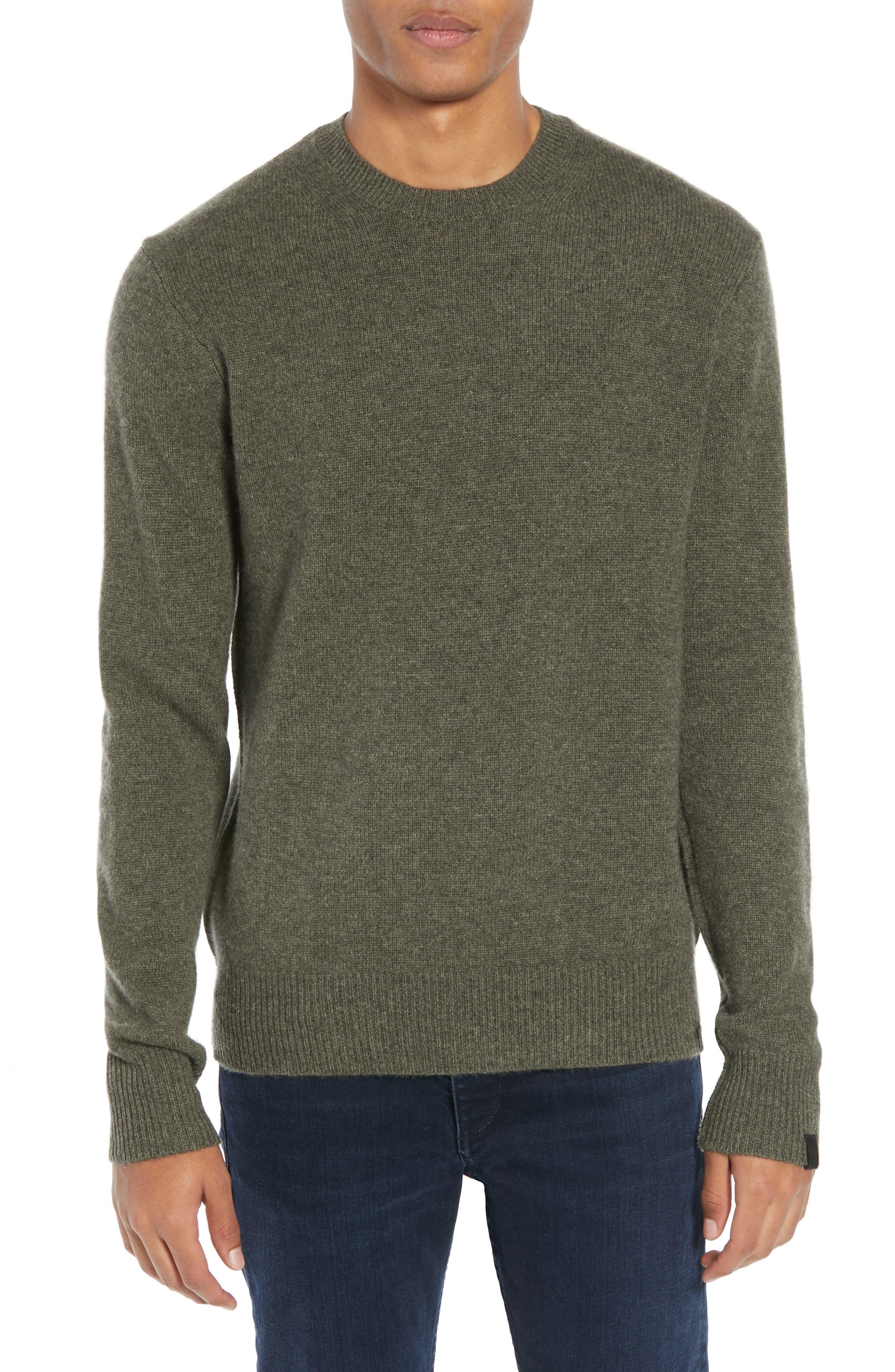 Rag And Bone Khaki Cashmere Haldon Sweater in 311 Army