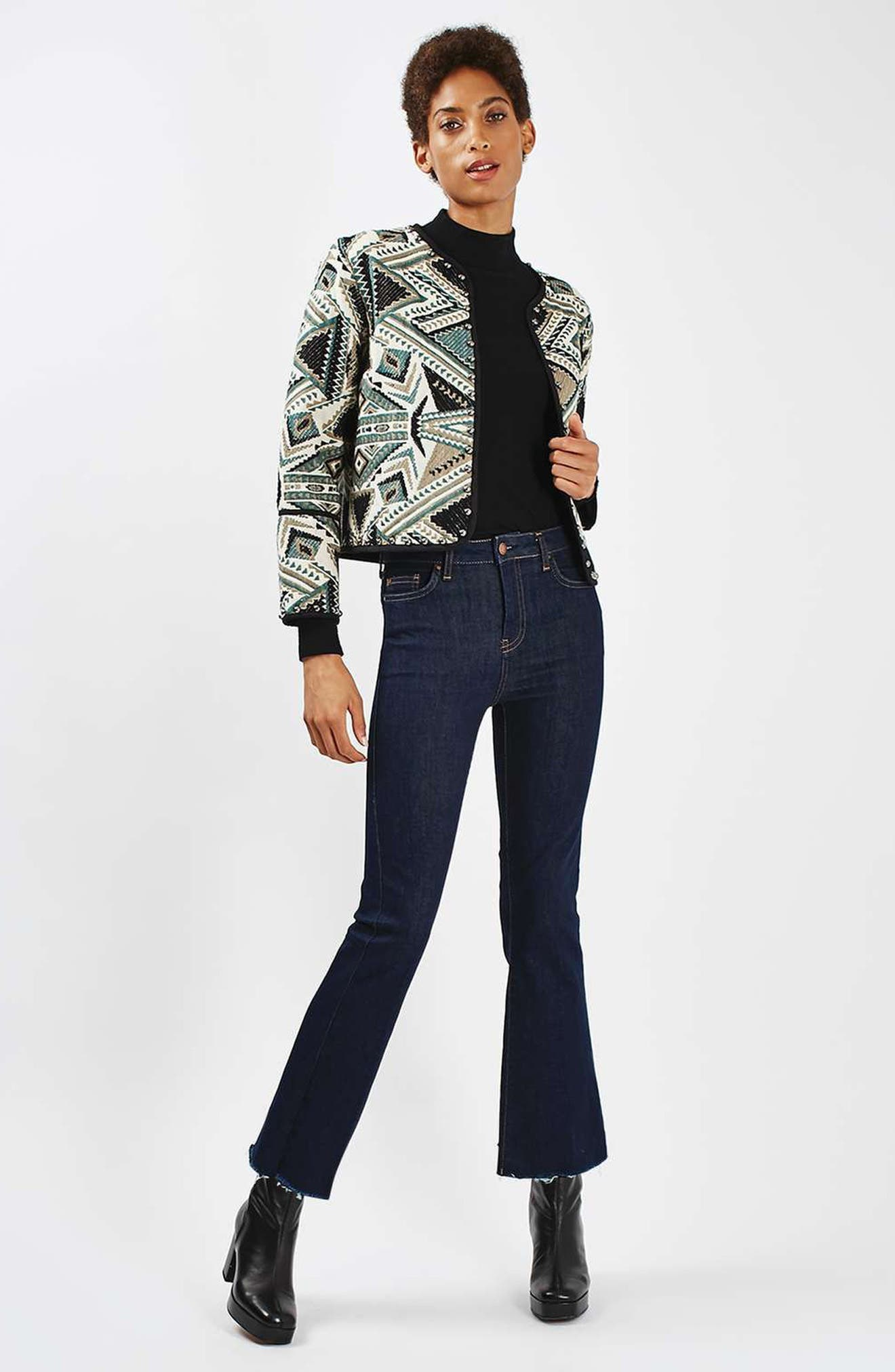 Studded Embroidered Jacket,                             Alternate thumbnail 9, color,                             020