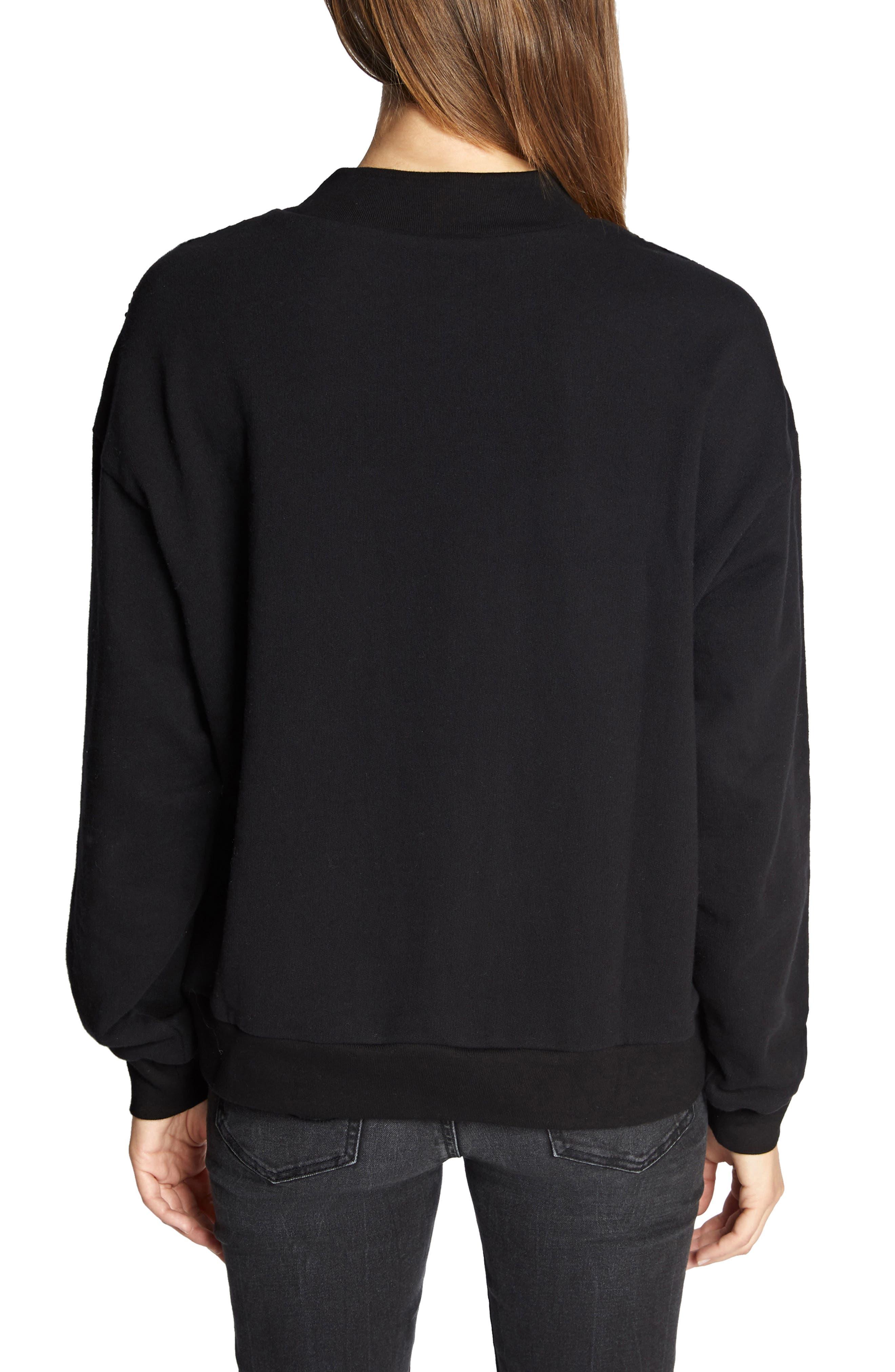 Last Dance Sequin Sweatshirt,                             Alternate thumbnail 2, color,                             BLACK/ SILVER